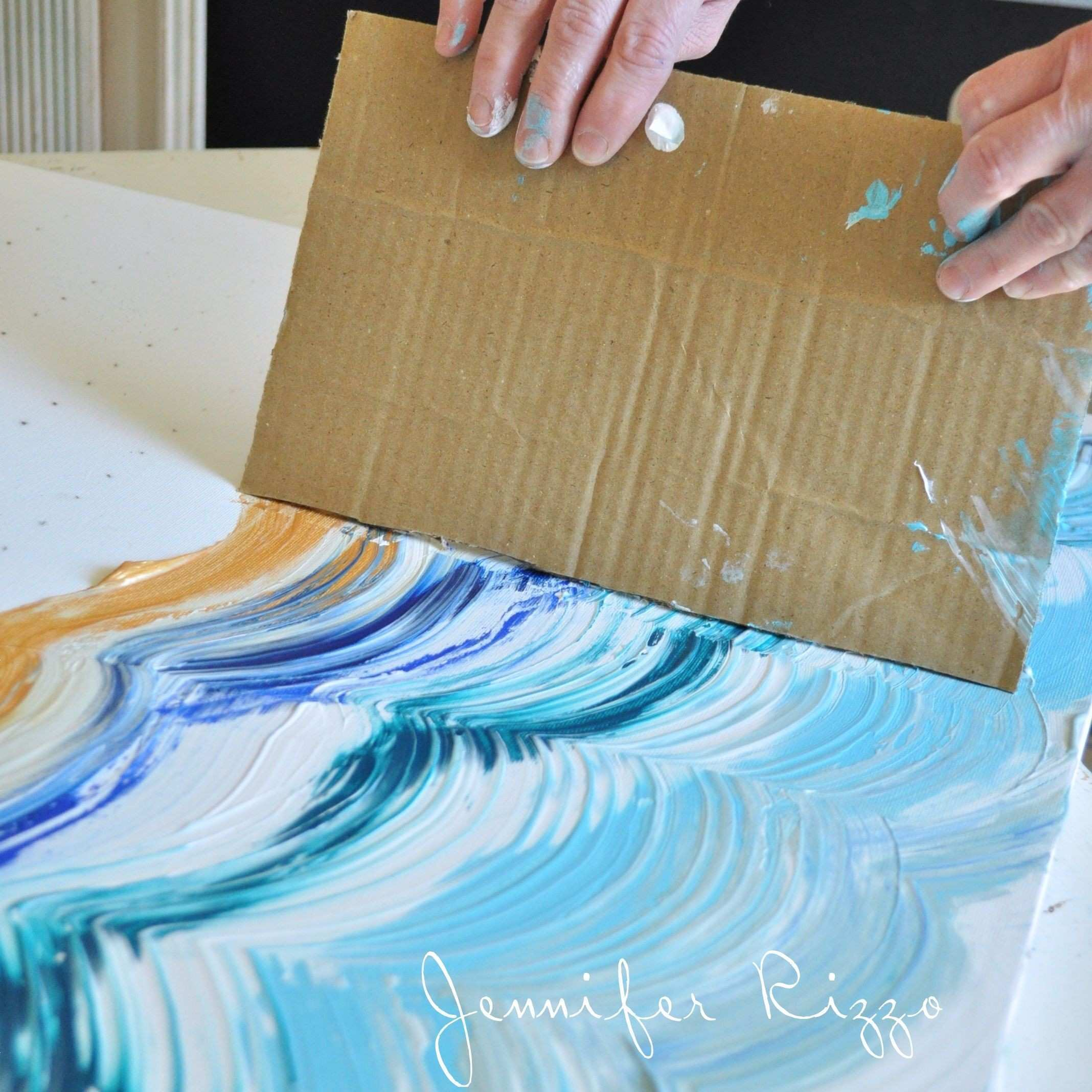 How to do a fun acrylic painting of an Agate inspired pattern