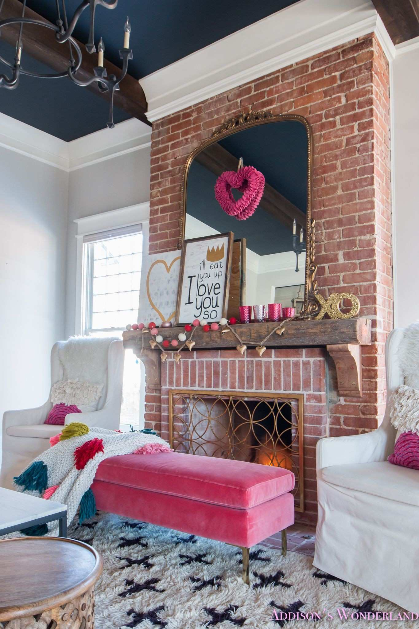 Our Colorful Whimsical & Elegant Valentine s Day Living Room Decor