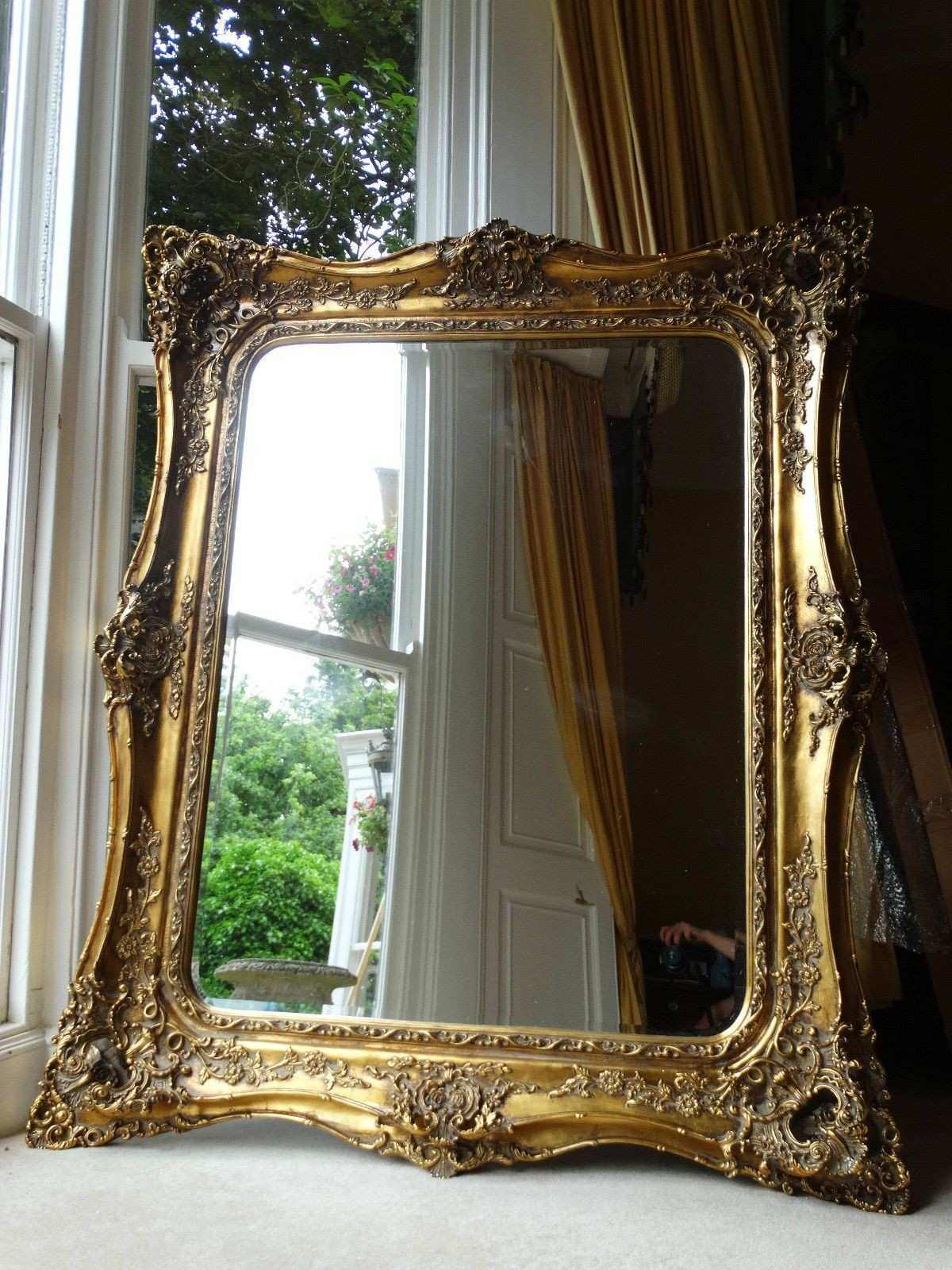Fabulously ornate HUGE Extra opulant Gold Rococo Wall hall