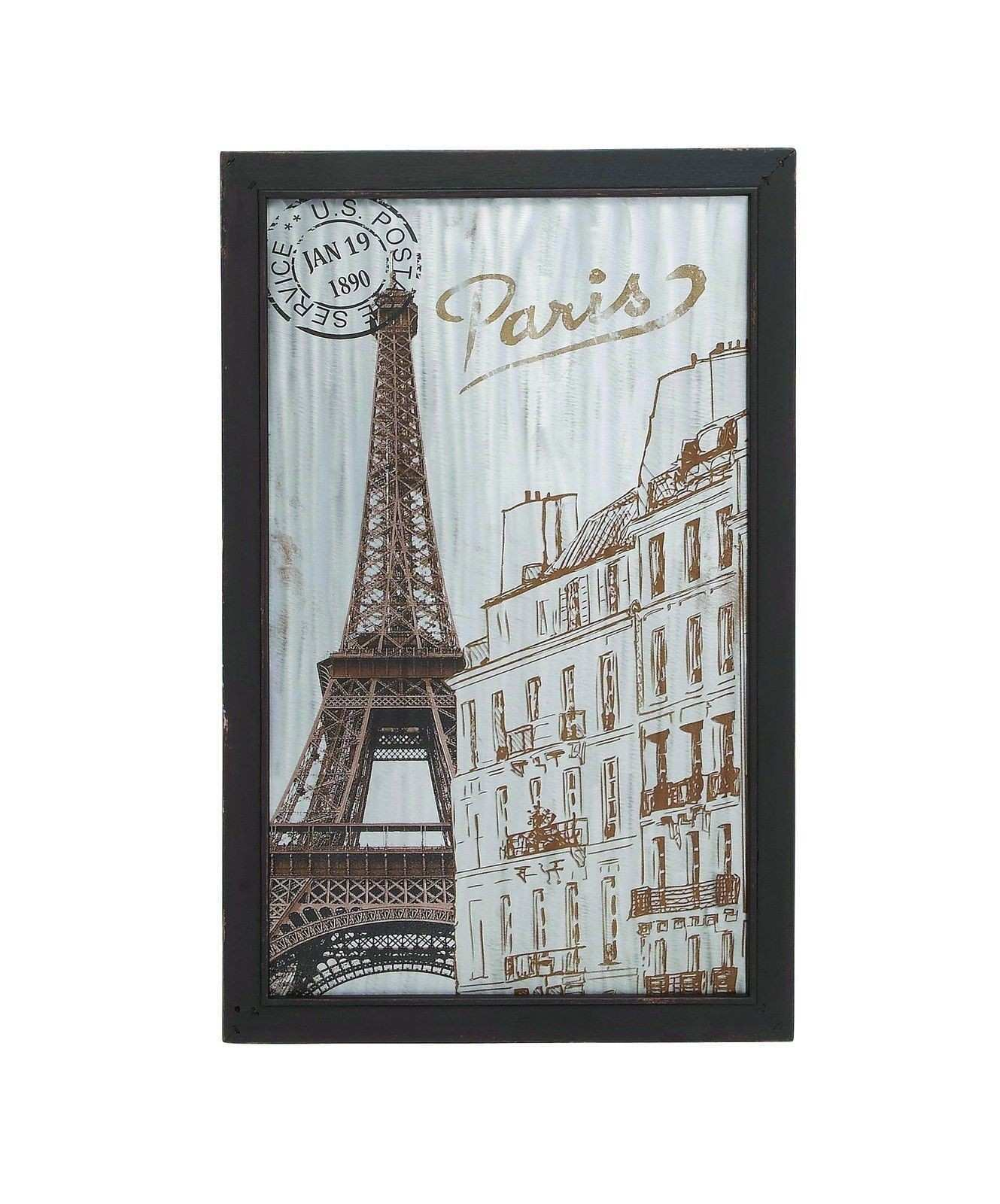 Eiffel Tower Paris France Wood Wall Art French Europe Travel Cafe