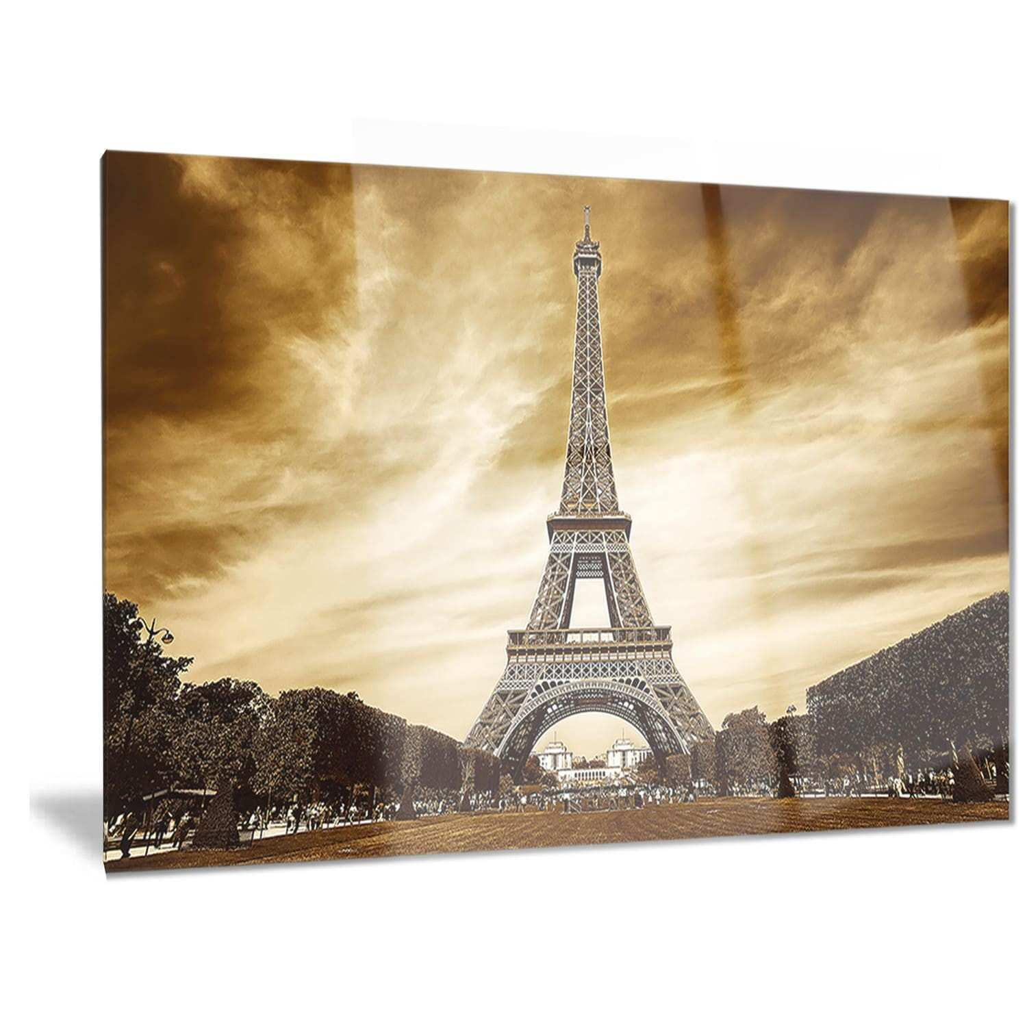 Dorable Metal Eiffel Tower Wall Decor Vignette Wall Art