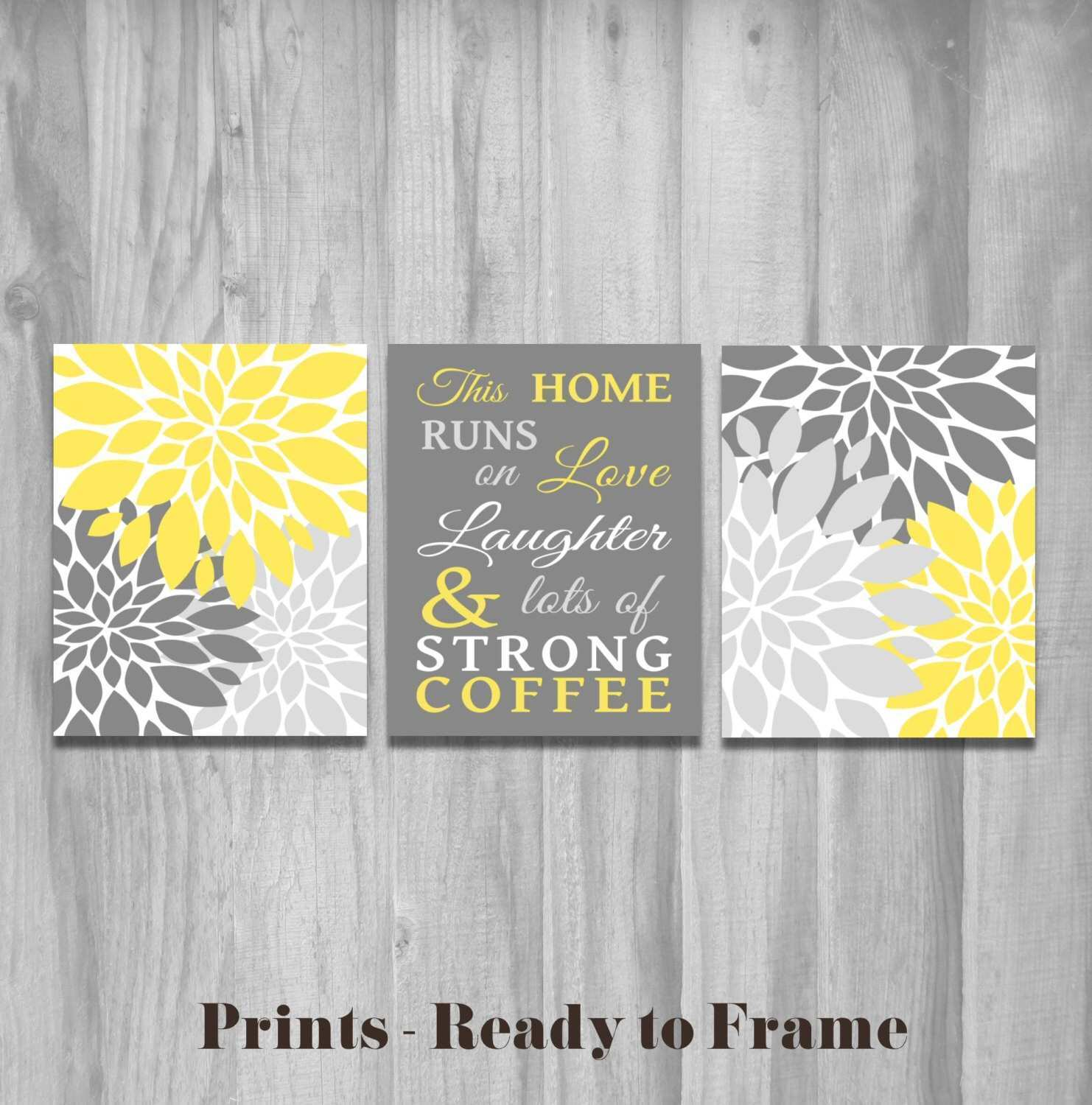 Adorable Yellow and Grey Wall Decor Best Home Design