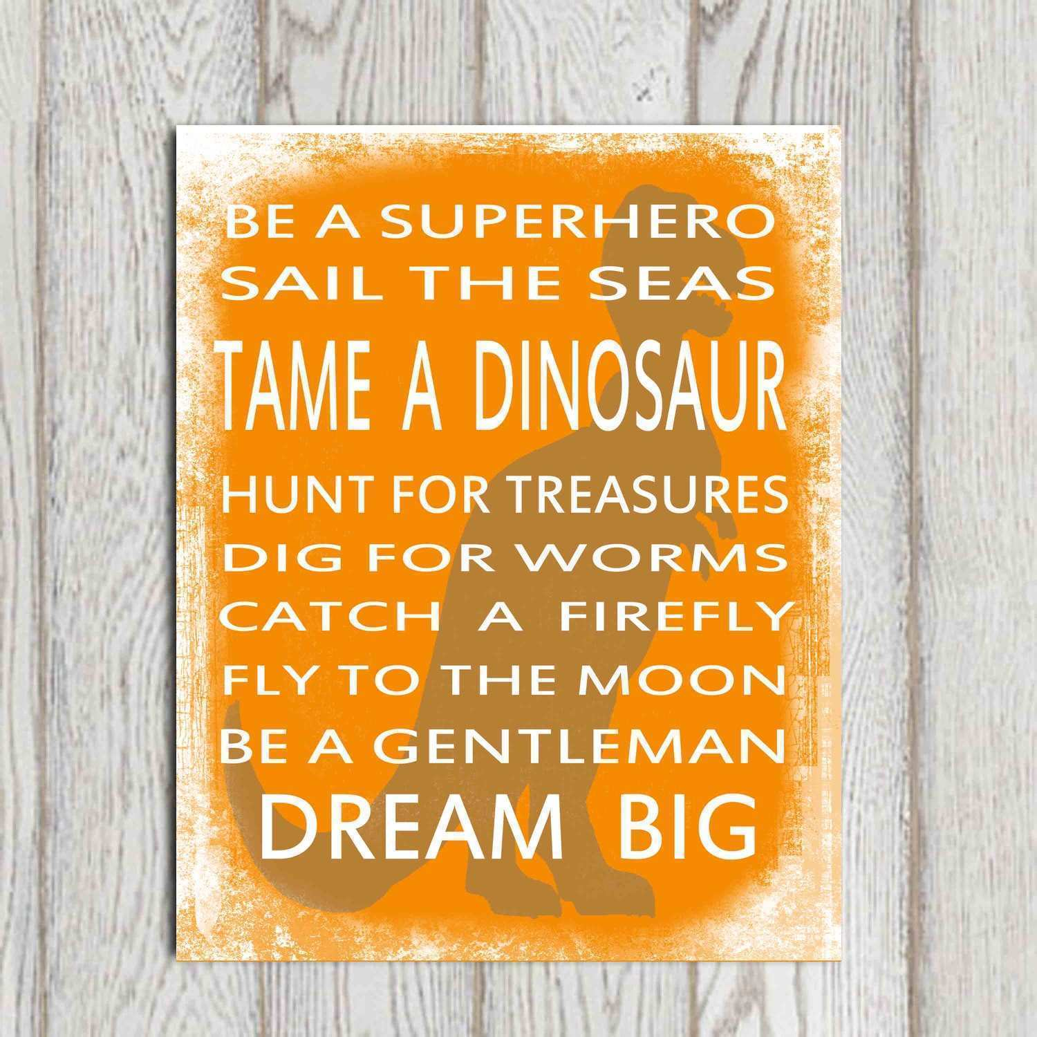 Etsy Wall Art Prints Lovely Popular Items for Dinosaur Print Etsy Quote Printable Boys
