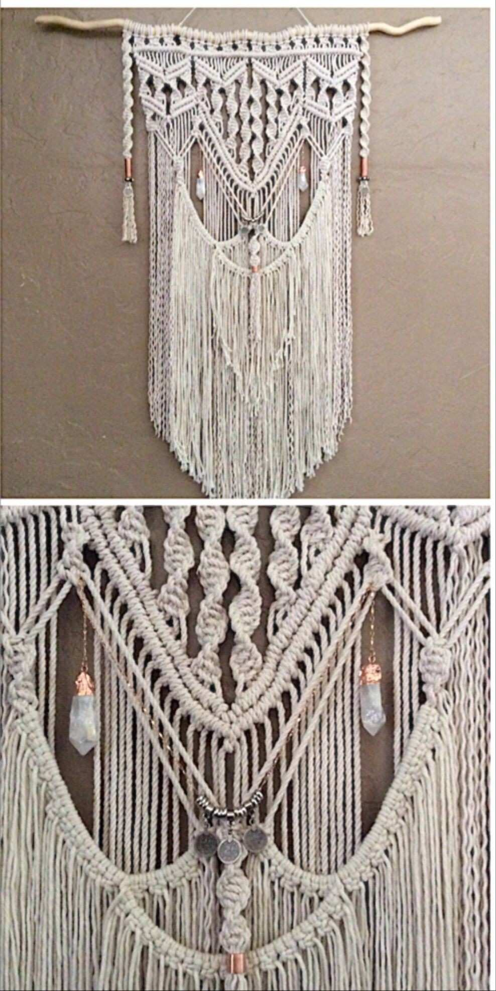 Love this Macrame Wall Hanging Very Bohemian You can it here