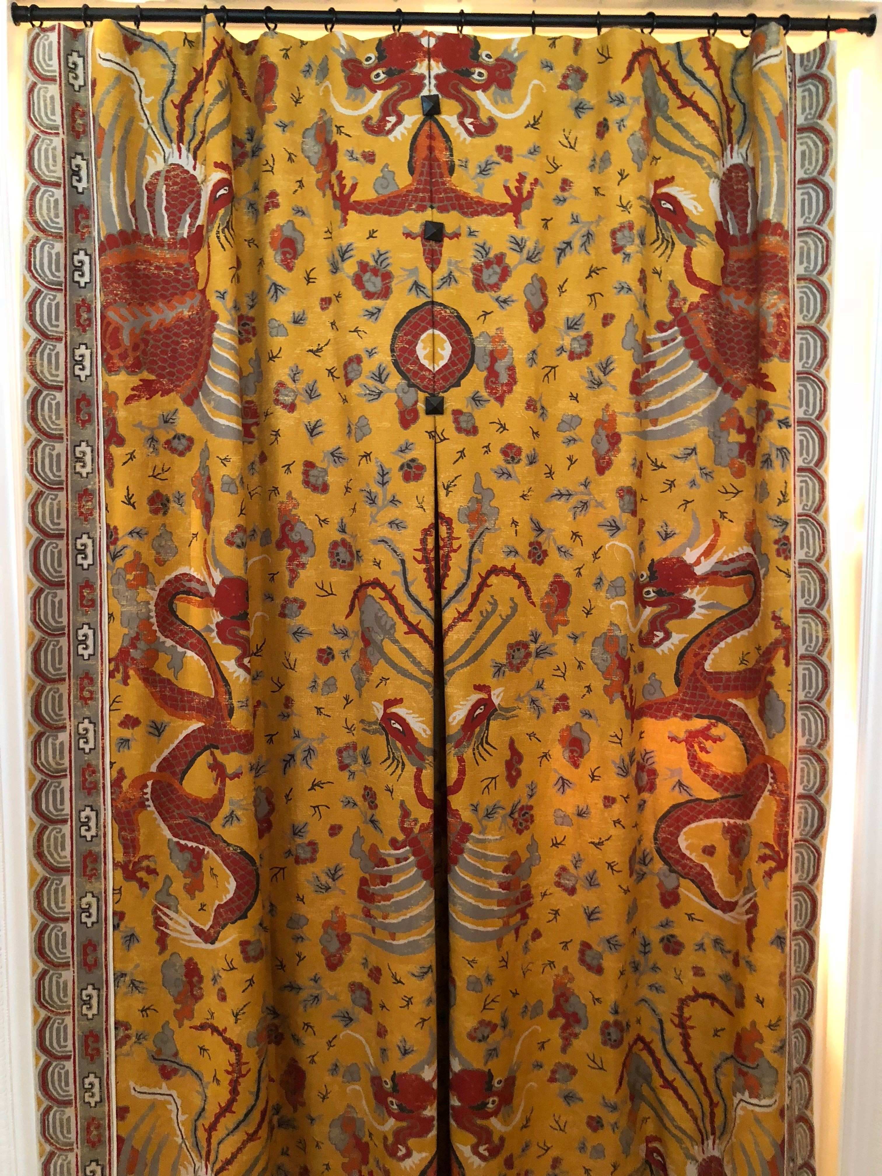 """Josh Hildreth asian textile """"bed"""" and wall hanging DC Design House"""