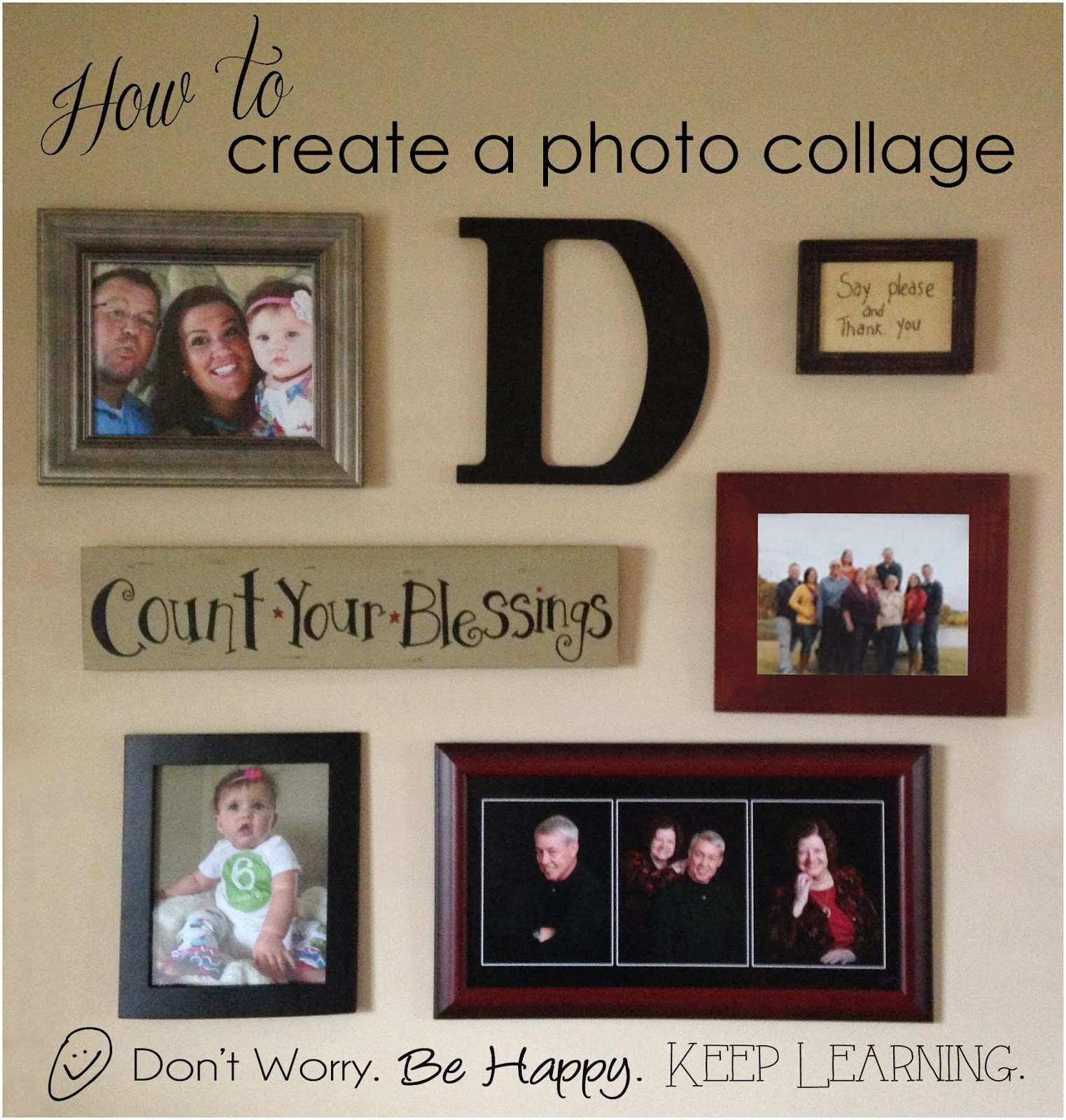 Don t worry Be happy Keep learning Create a wall display