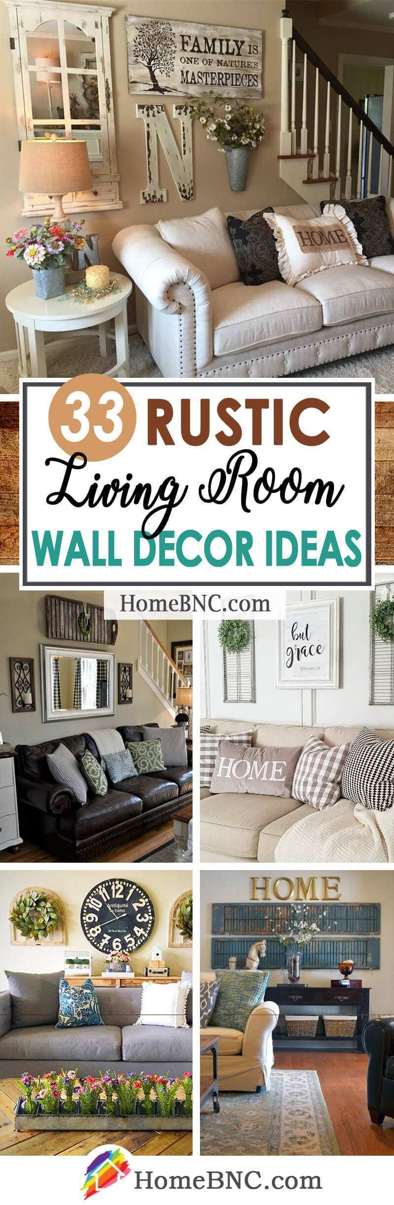 33 Best Rustic Living Room Wall Decor Ideas and Designs for 2018