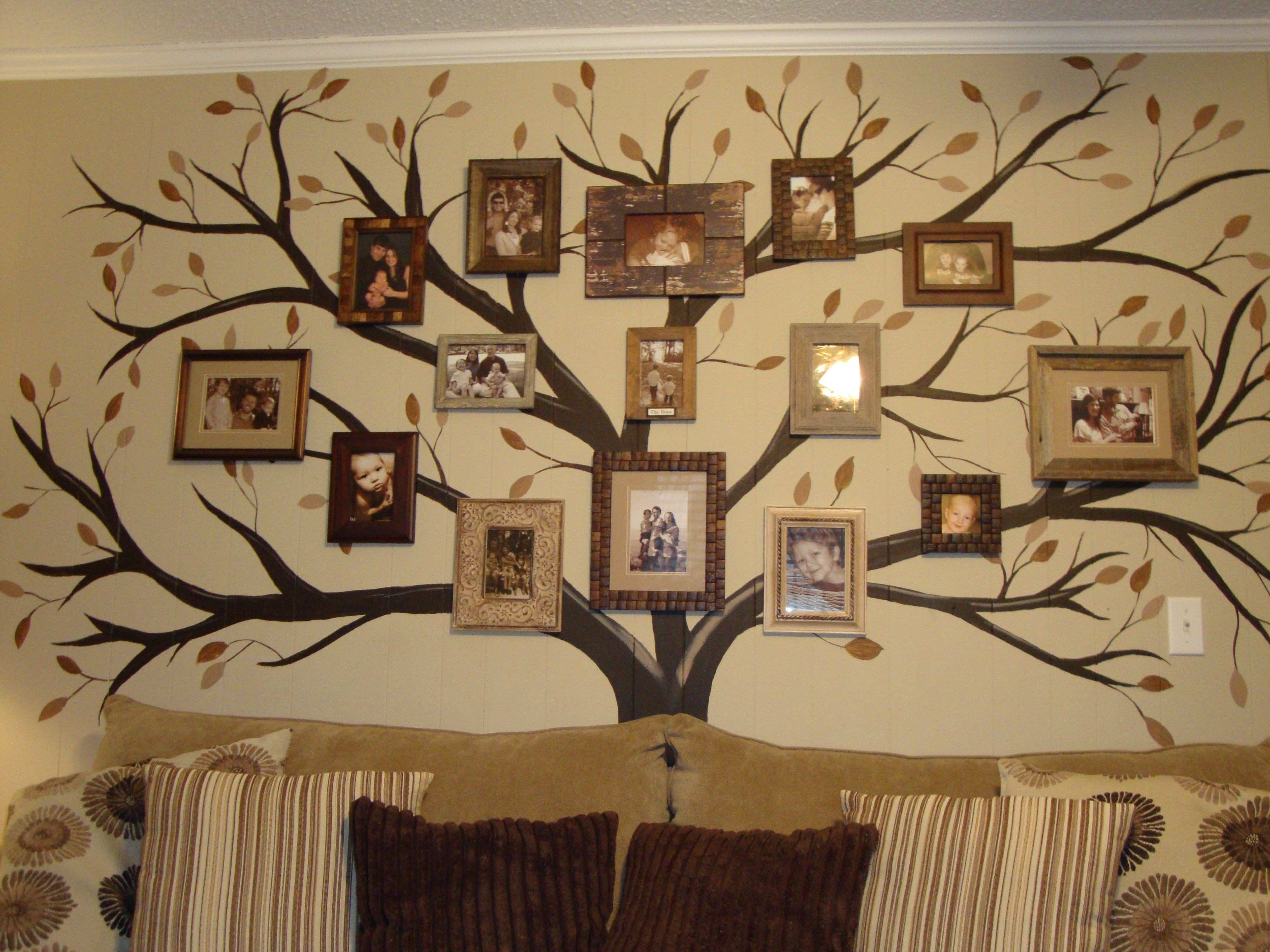My family tree mural pied from another I found on pinterest