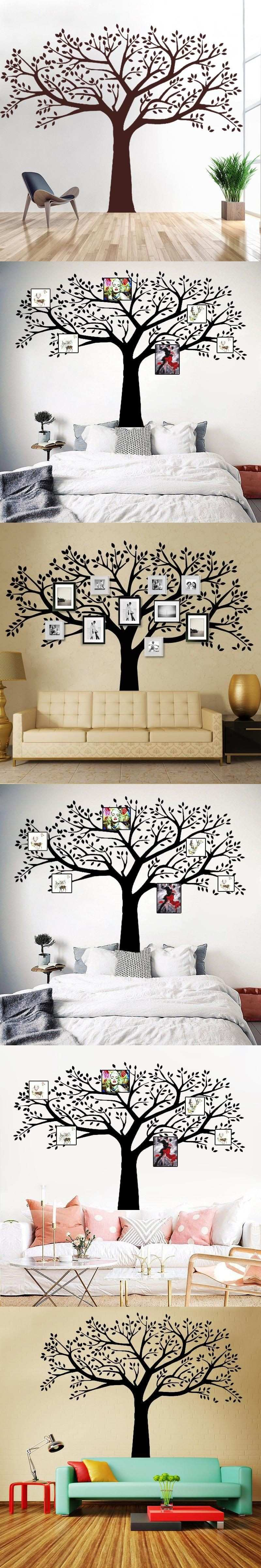 B16 Family Tree Wall Decals Vinyl Wall Decal Frame Tree Design
