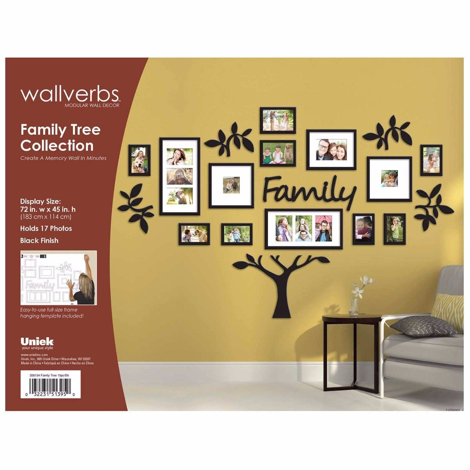 Family Tree Picture Frame Wall Hanging Luxury Fine Family Tree Wall ...
