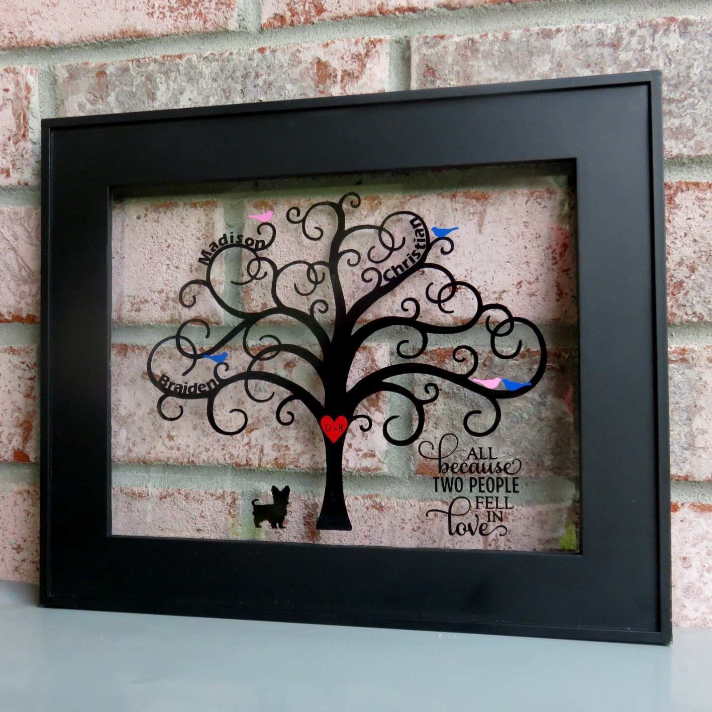 diy family tree Tierianhenry