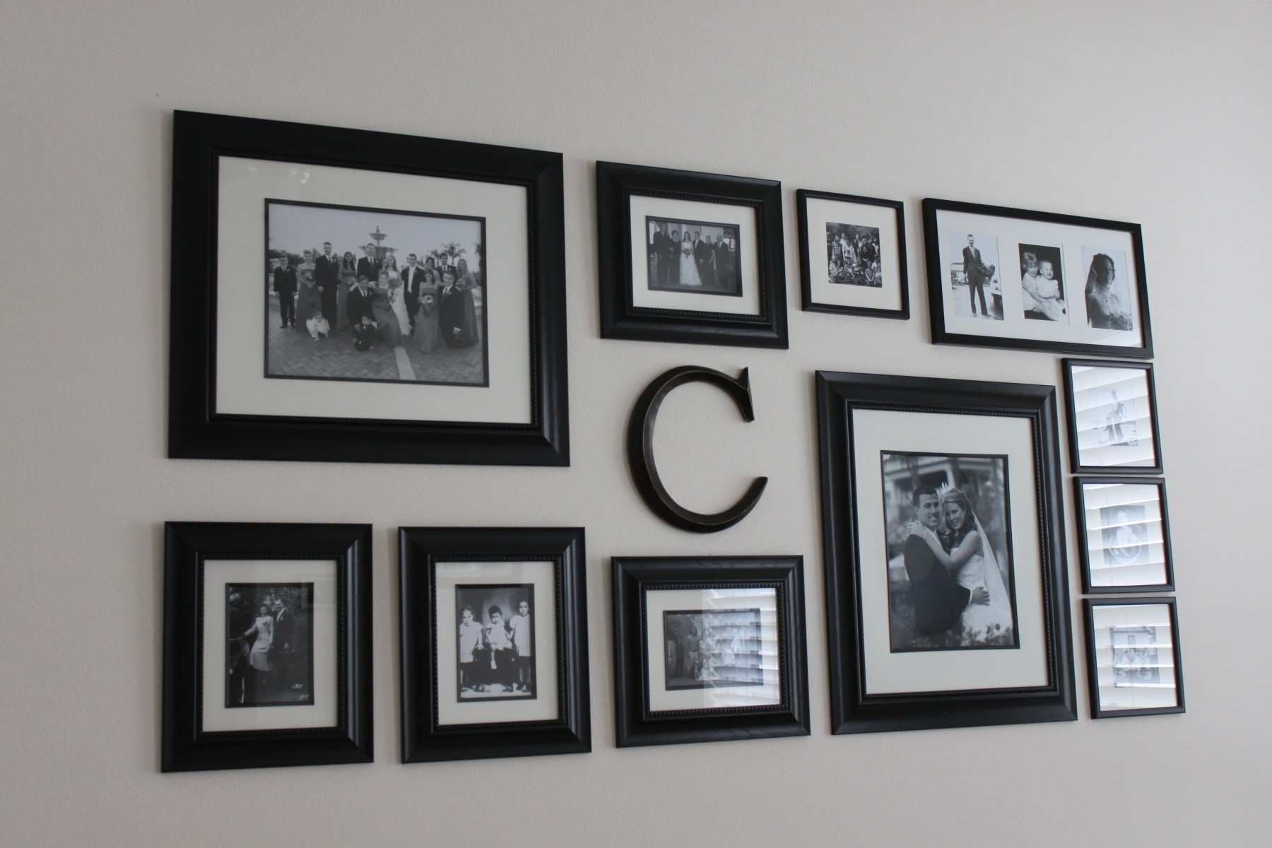 Wall Design Ideas Picture Frames New Family Wall Collage