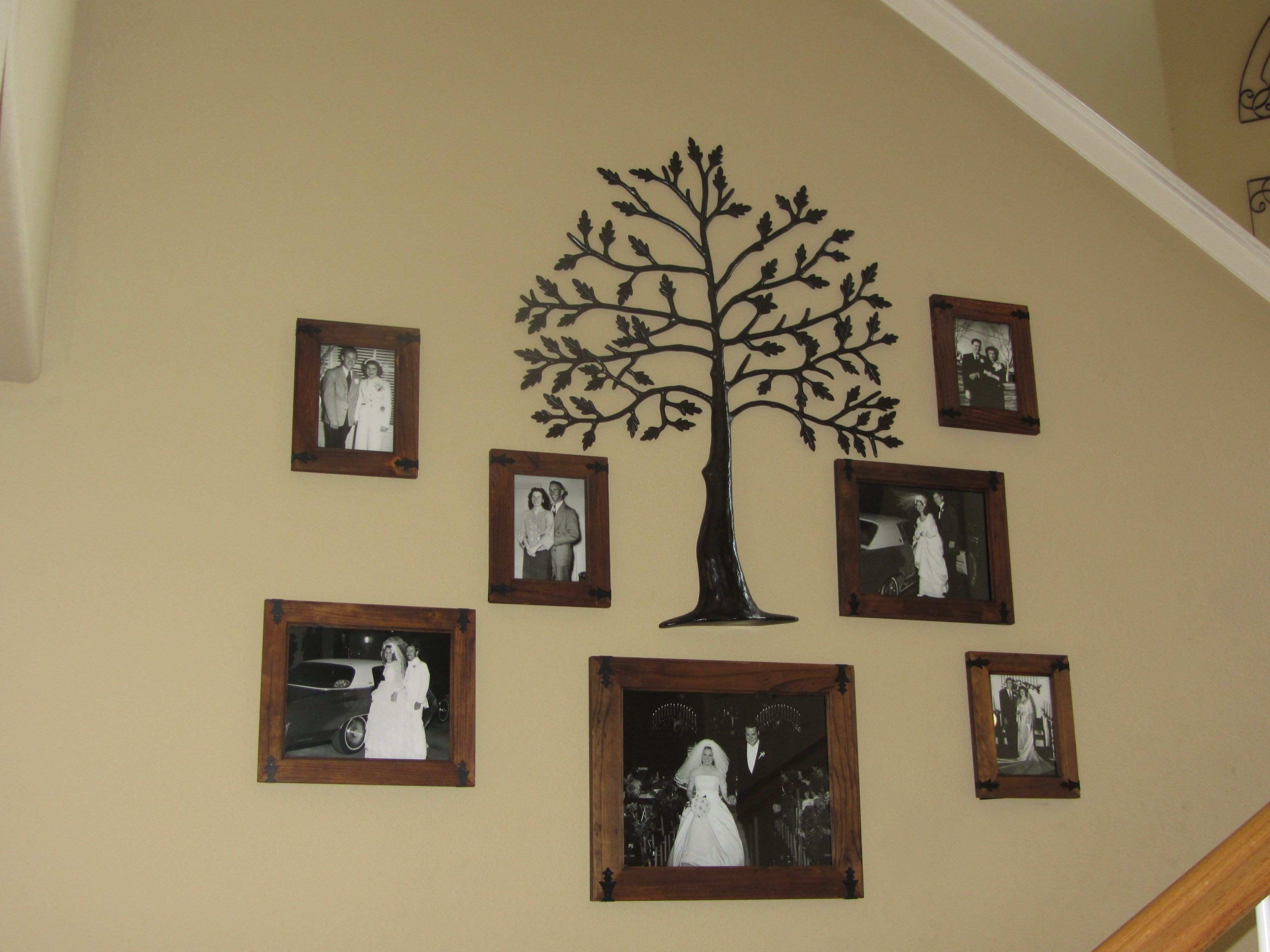 Old Family wall idea gather your your grandparents and your