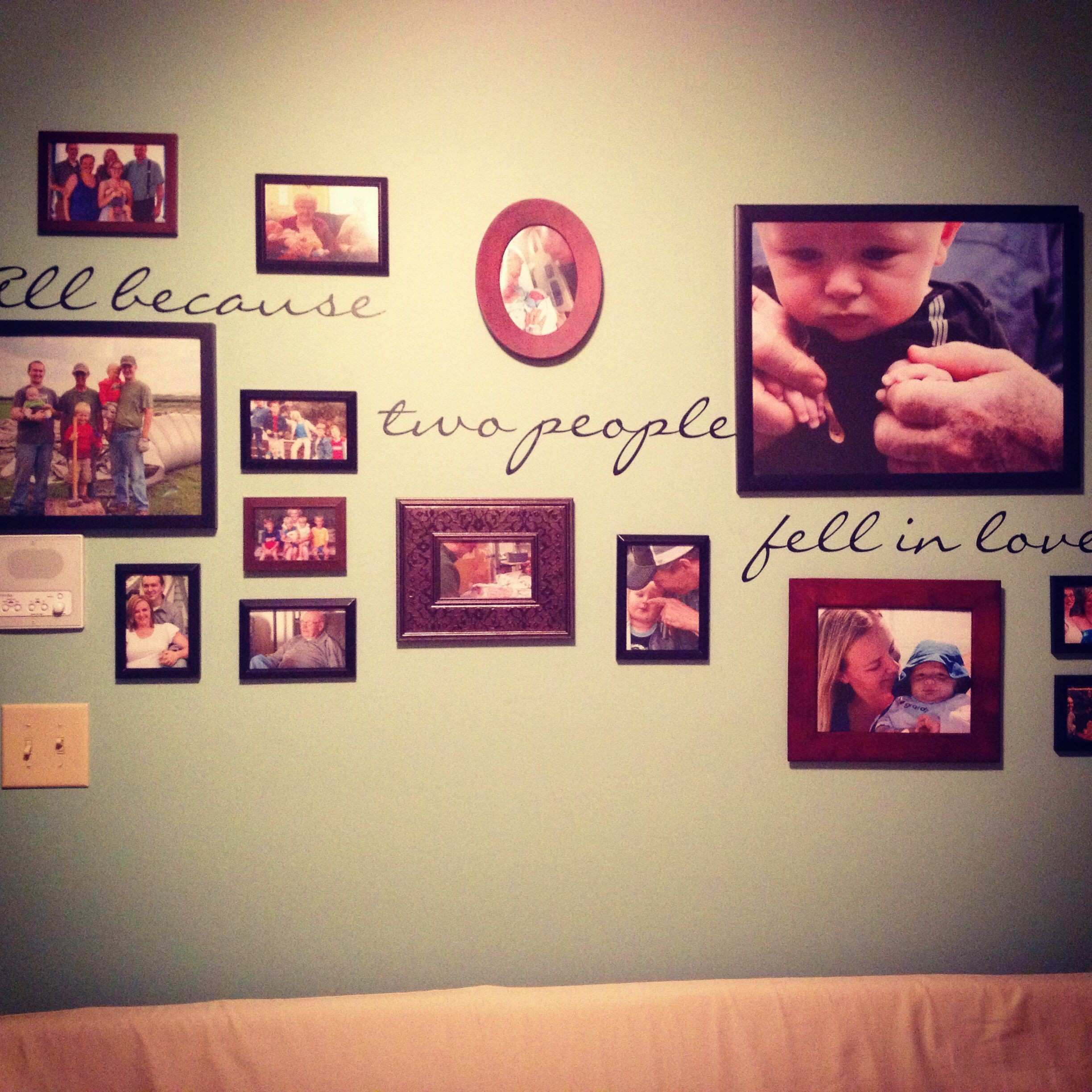 Family Wall Picture Frames Lovely All because Two People Fell In ...