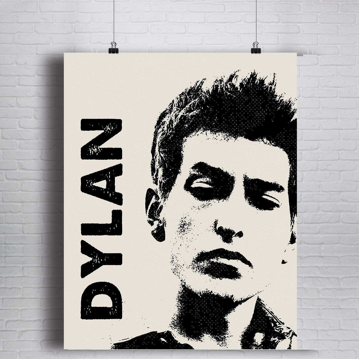 Bob Dylan Fine Art Print Bob Dylan Portrait Hand Made Sizes