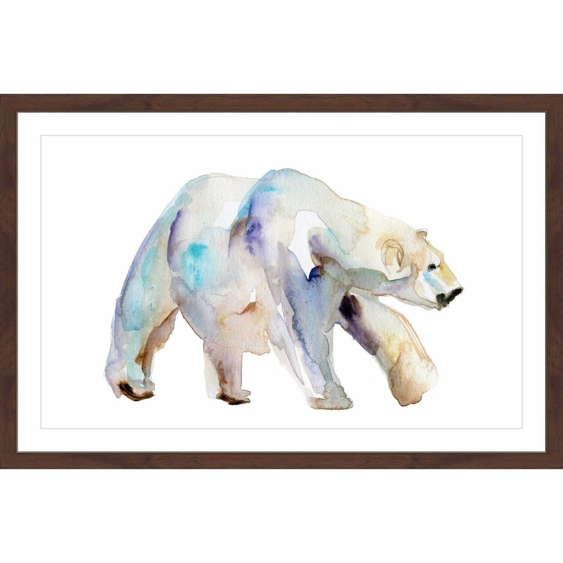 Marmont Hill Polar Bear Walk by Michelle Dujardin Framed