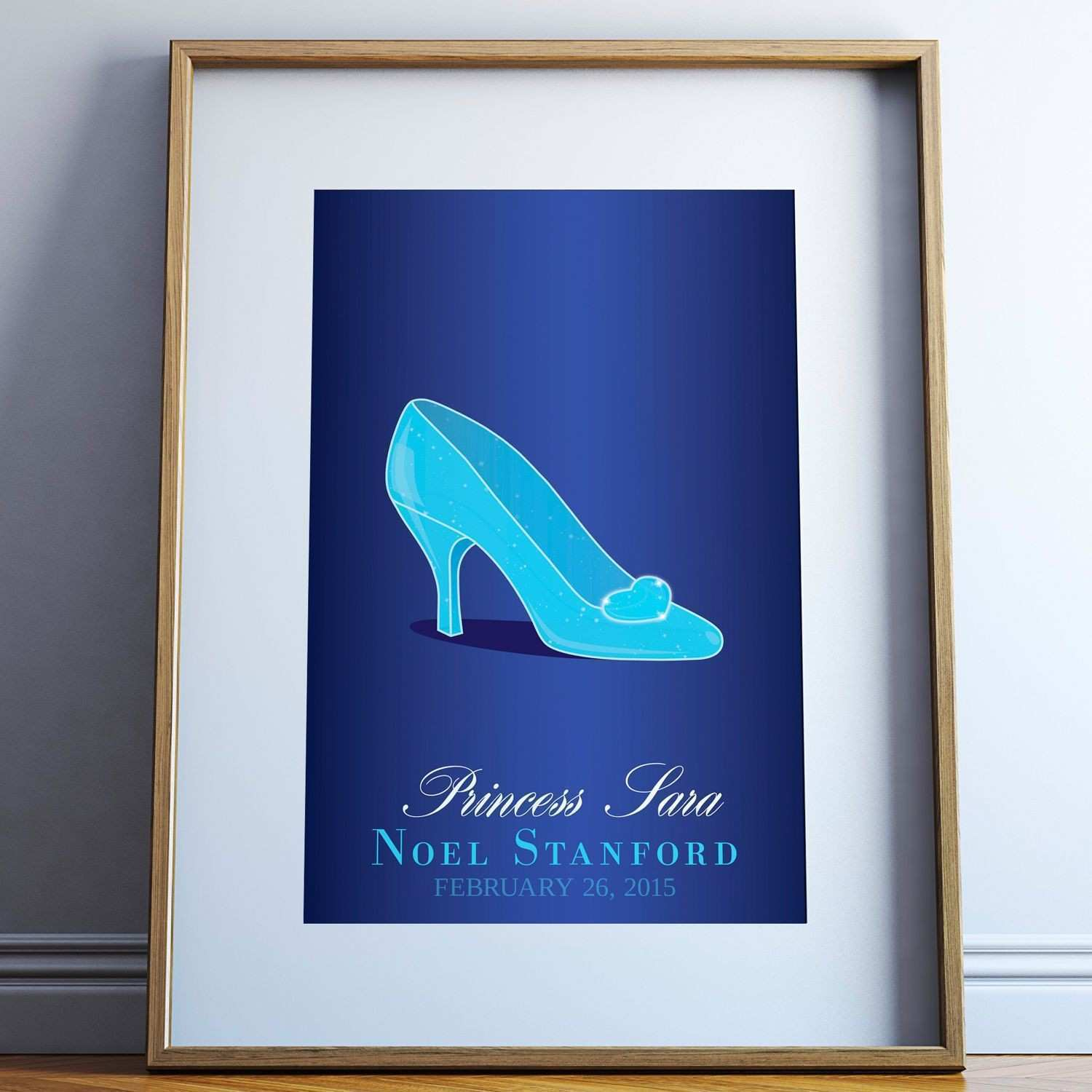 "Disney Cinderella ""The Glass Slipper"" Personalized Giclée Print"