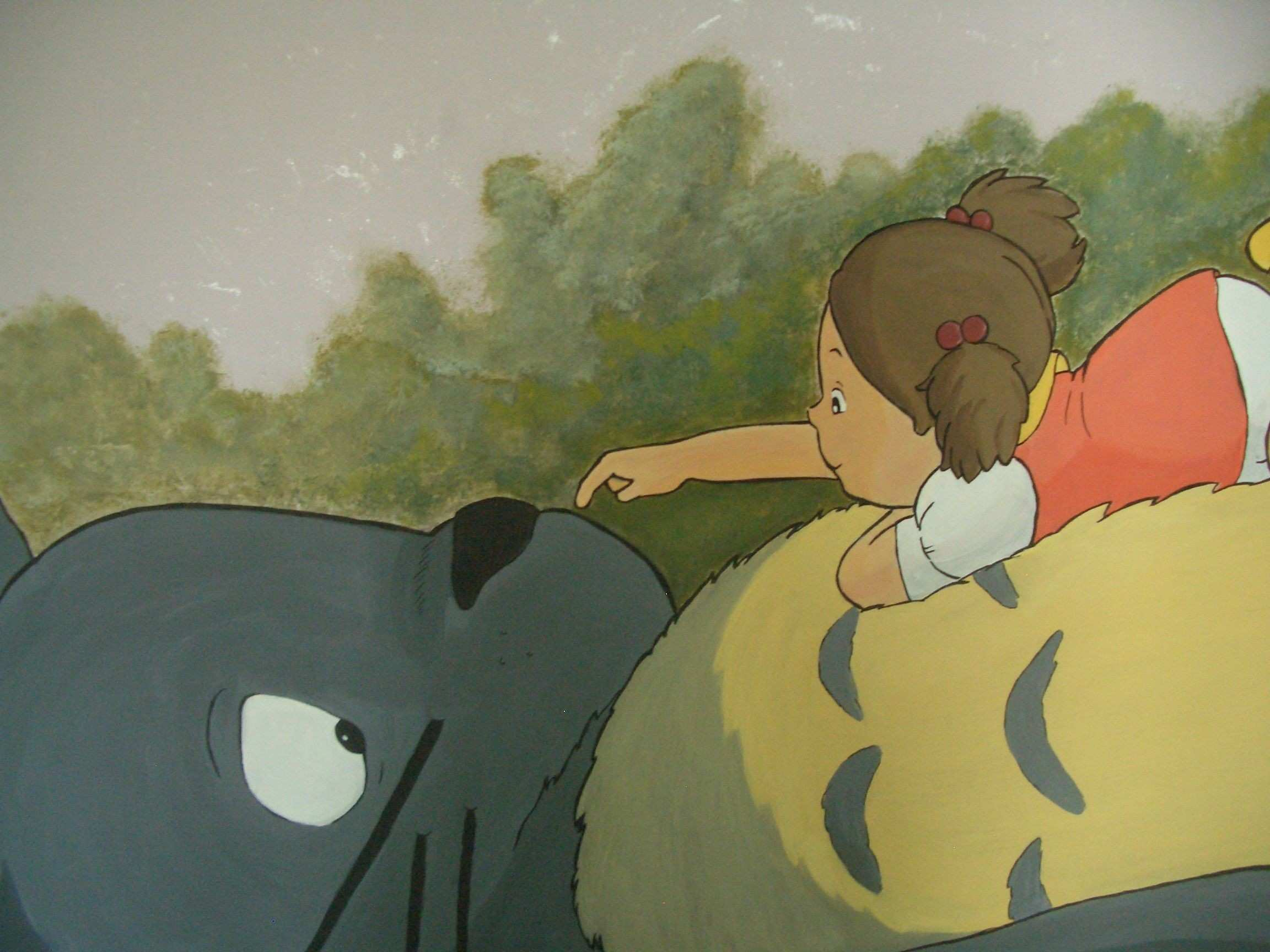 """painting on the wall """"Totoro and mei"""""""