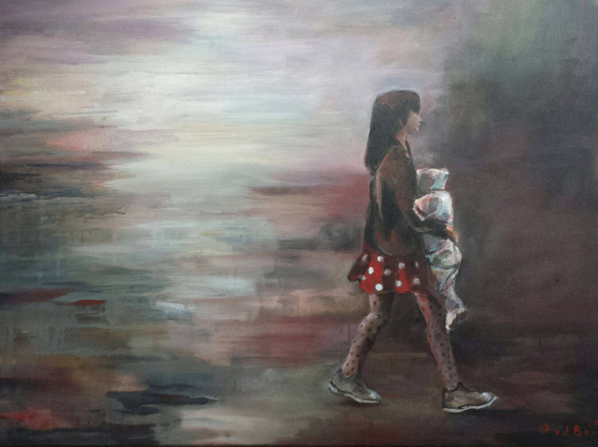 Saatchi Art Childhood Exploring the world Painting by Angelique
