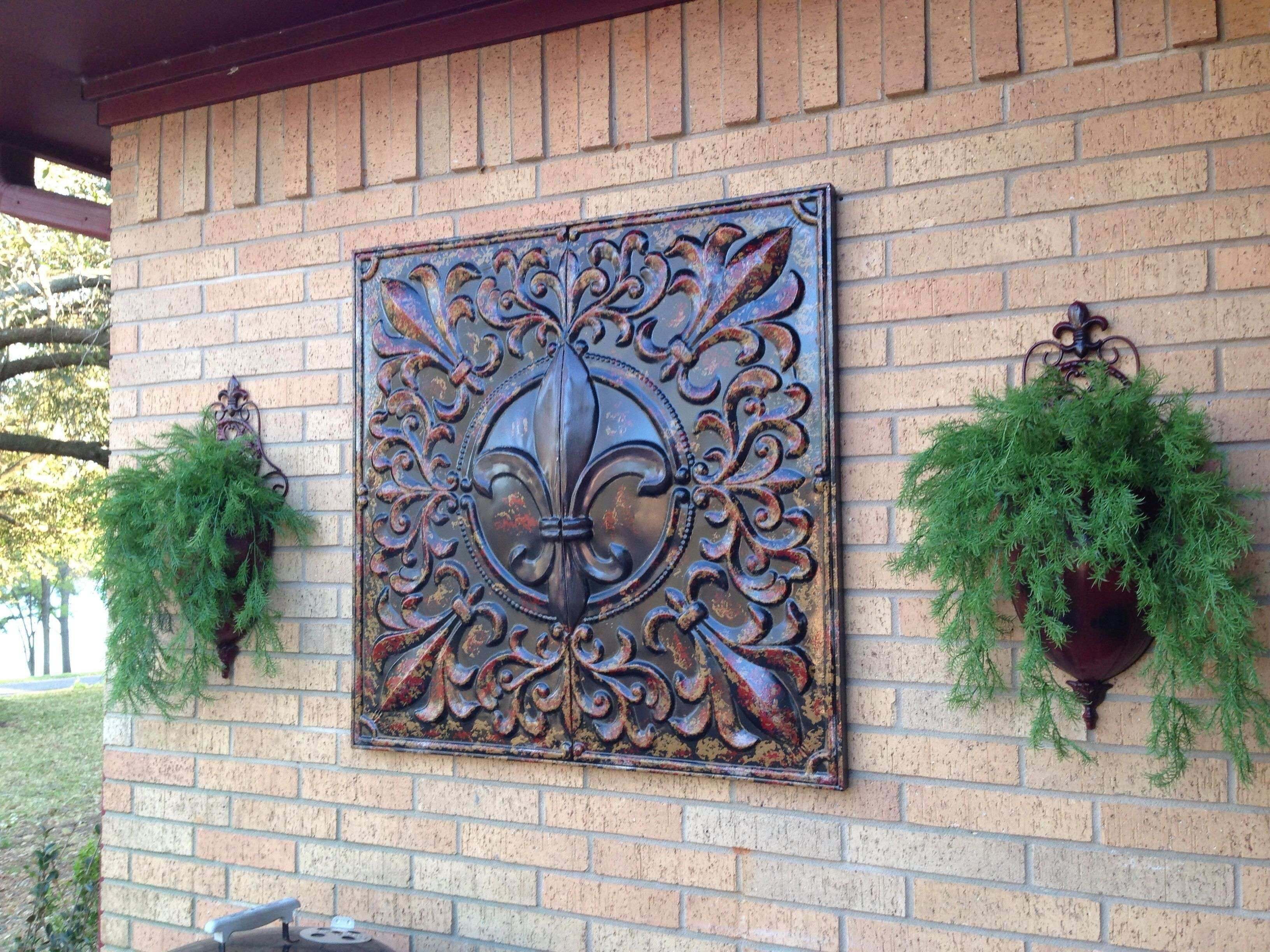 Fleur D Lis Metal Art Bought Hobby Lobby for f Metal Wall