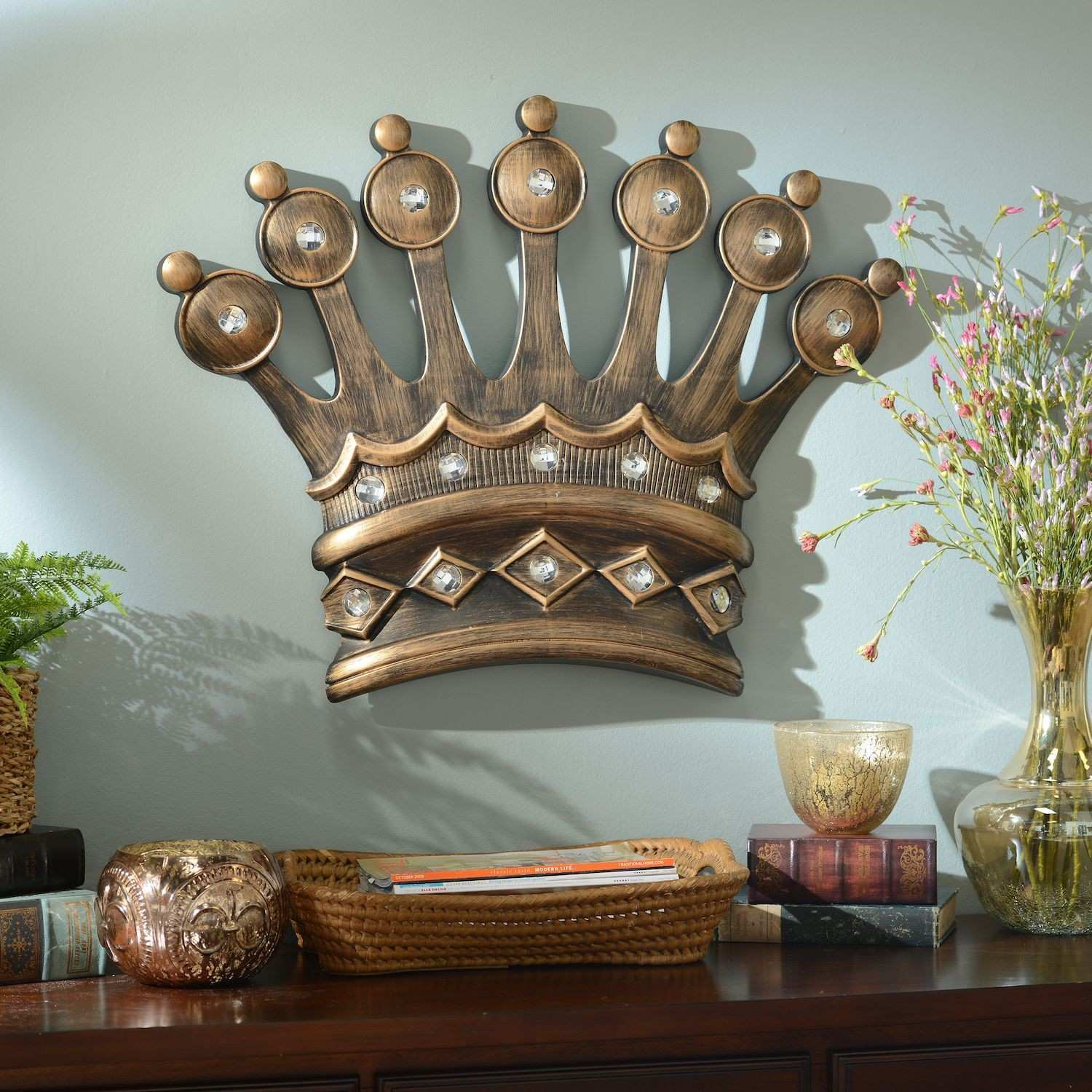 His Crown Gold Jeweled Wall Plaque Pinterest