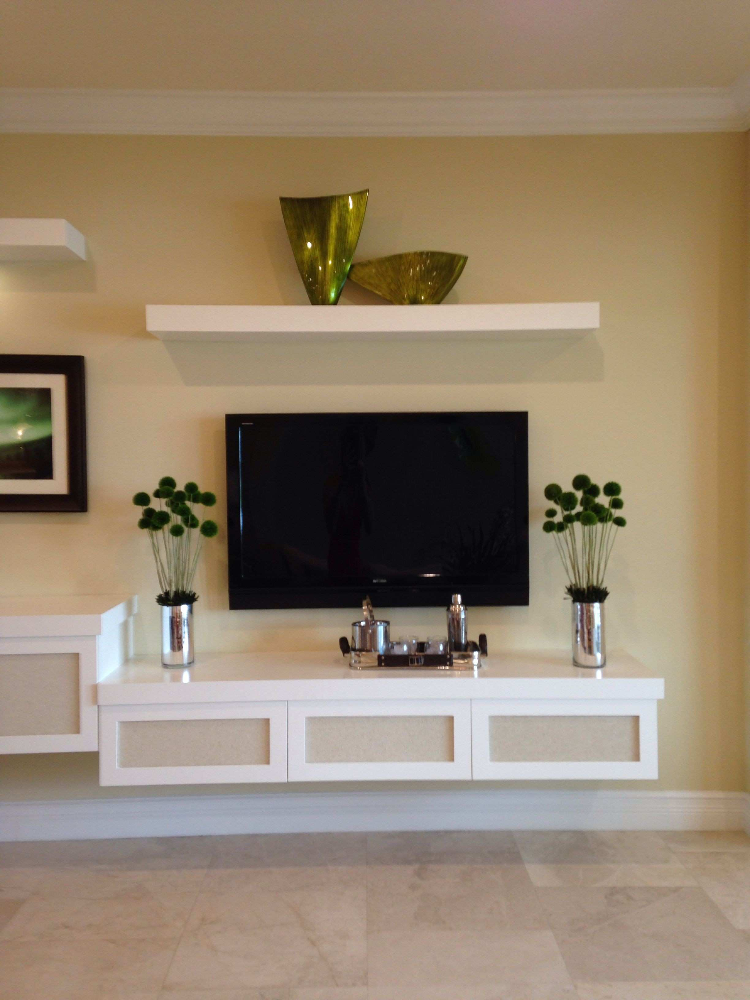 Floating tv stand Home Ideas Pinterest