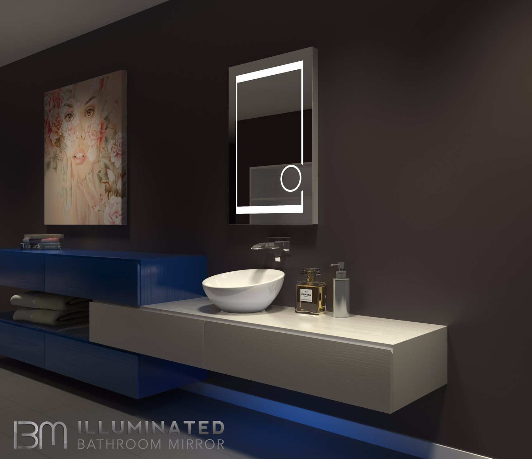 Bathroom Mirror Led Lights New 18 X 57 In Full Length Wall Mounted