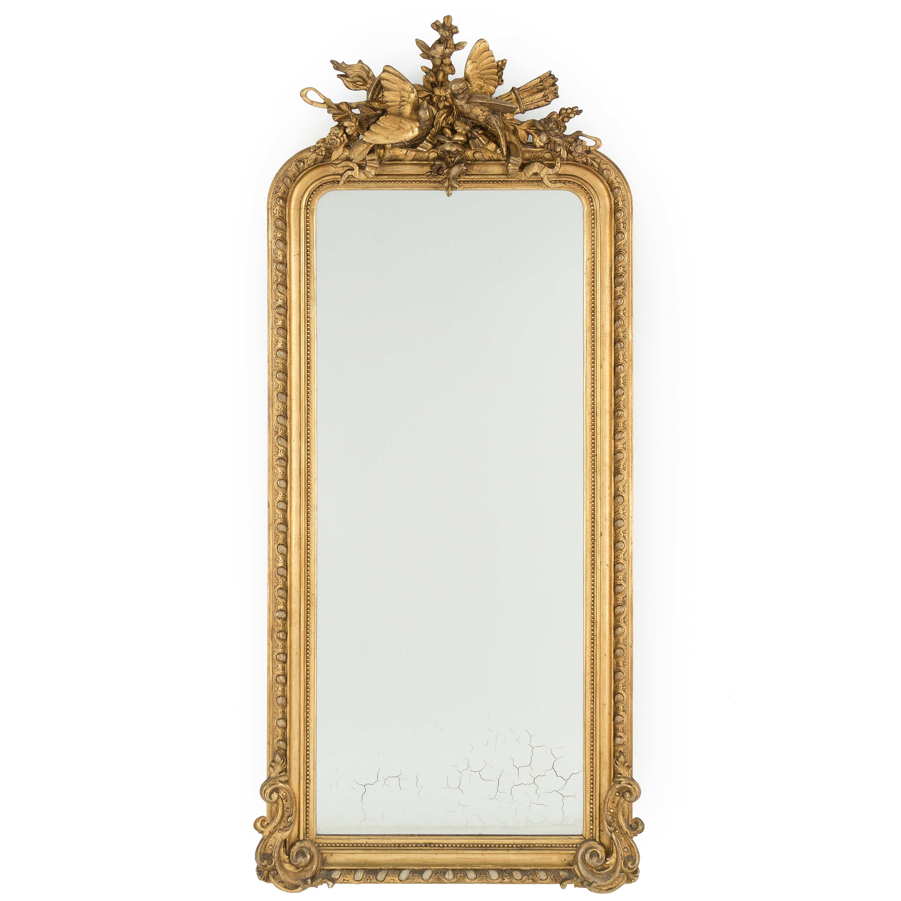 NYSTILAR A matched Rococo style mirror and console table early