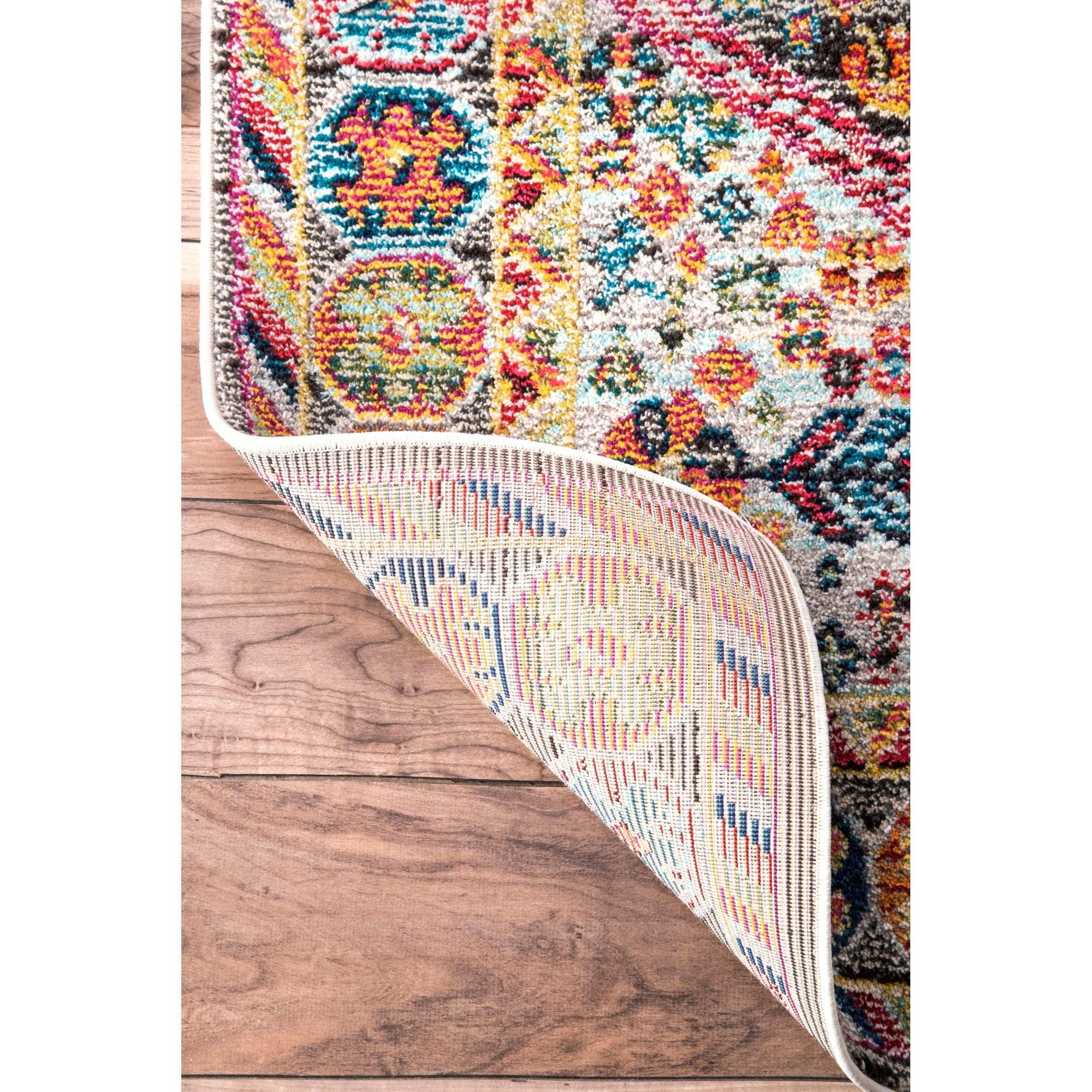 Floral Print Wall to Wall Carpet Unique Shop Nuloom Persian Traditional Distressed Flower Multicolor Rug 7
