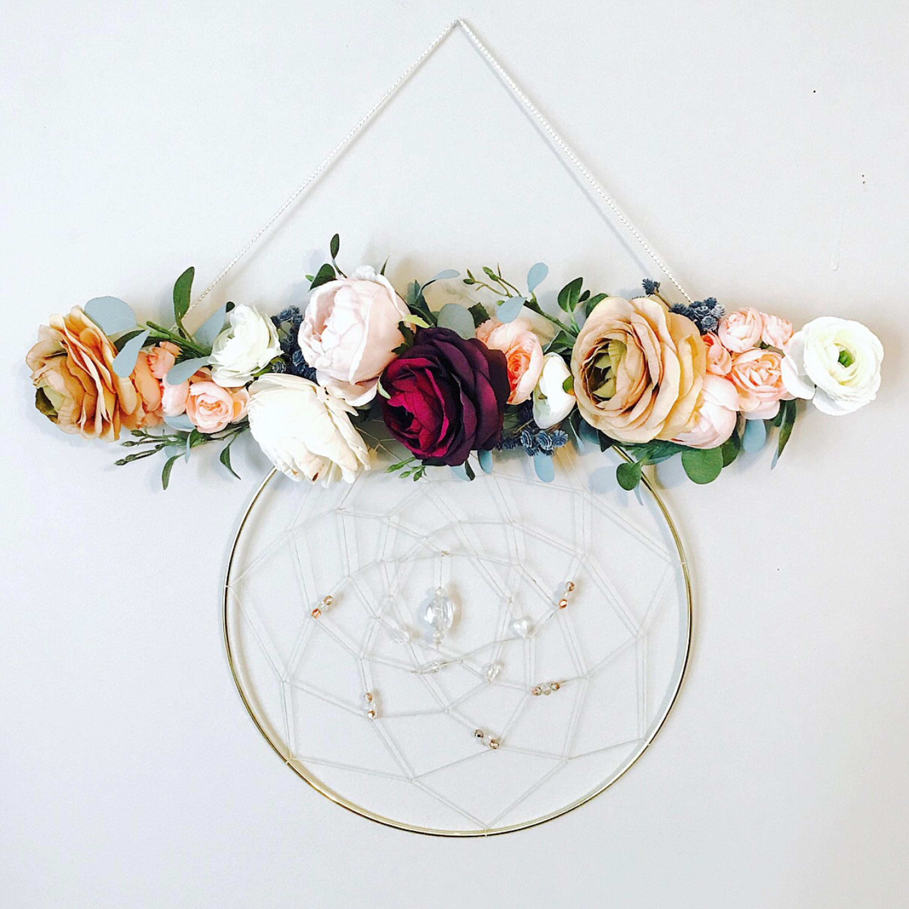 Wall Hanging Dream catcher Wall Hanging Floral Wall Hanging