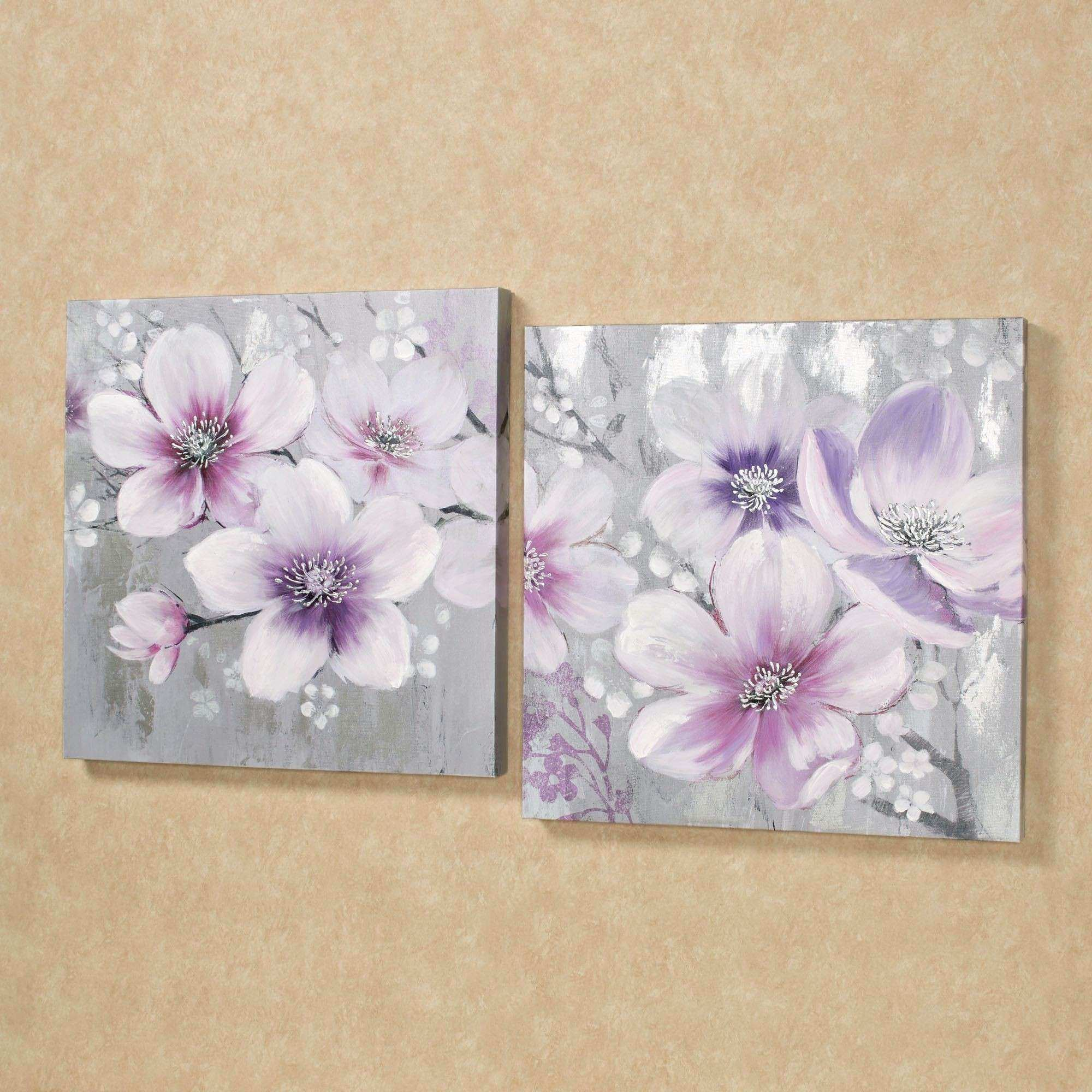 Floral Wall Art Luxury Simplistic Beauties Floral Canvas Wall Art