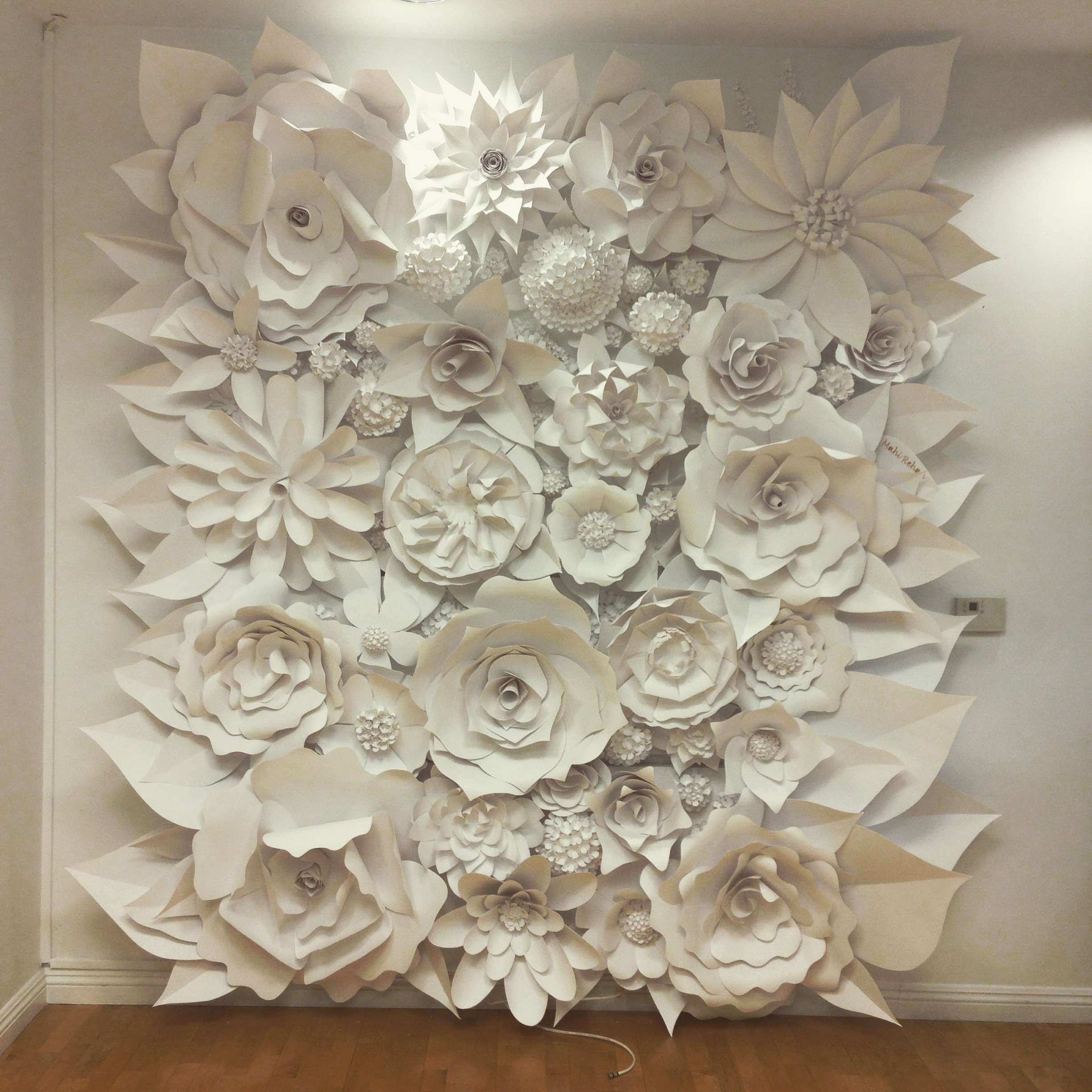 wall decor Floral Wall Decor How To Make A Flower Wall Hanging