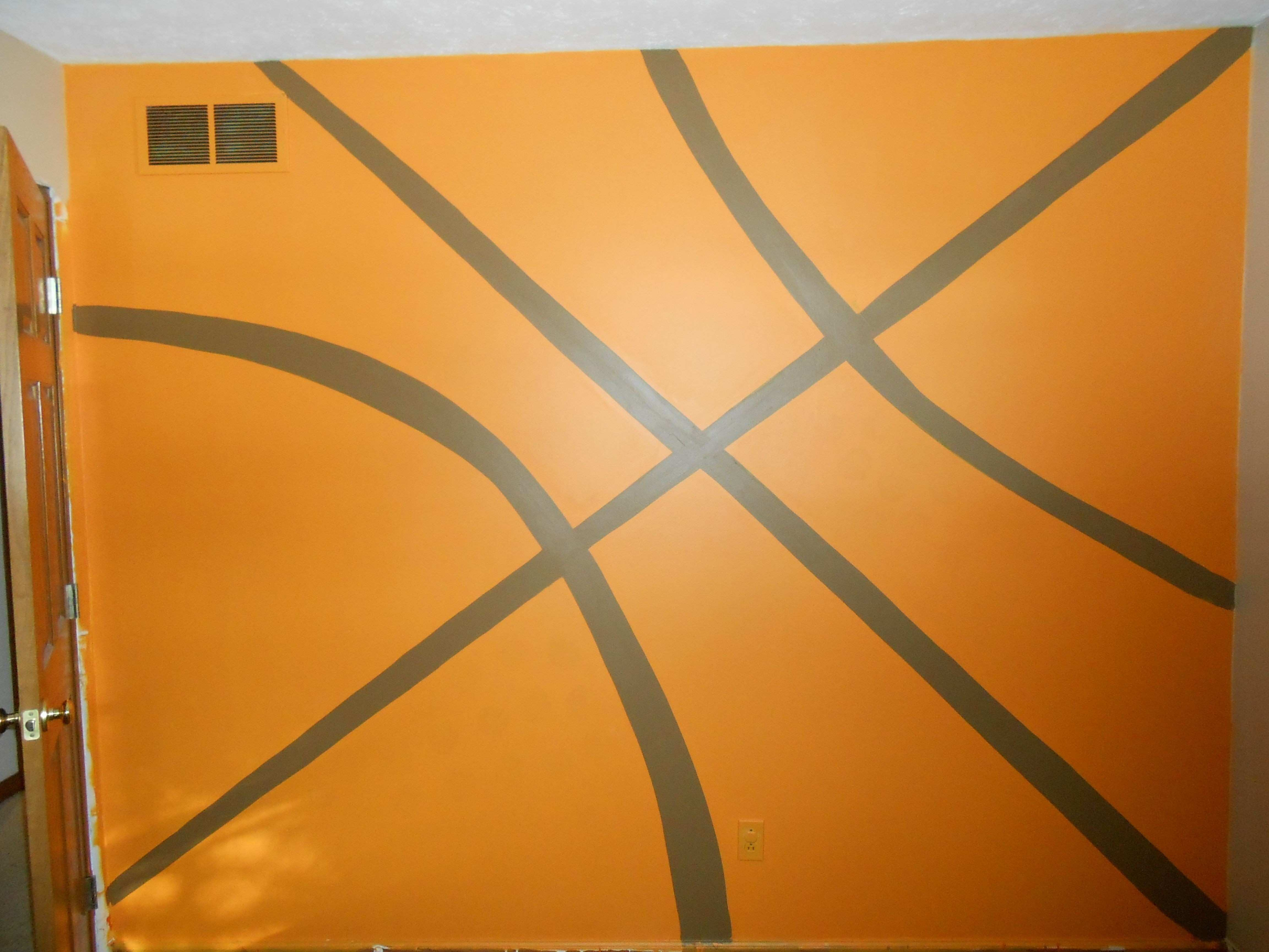 Basketball Wall Luxury Hand Painted Basketball Wall for My son