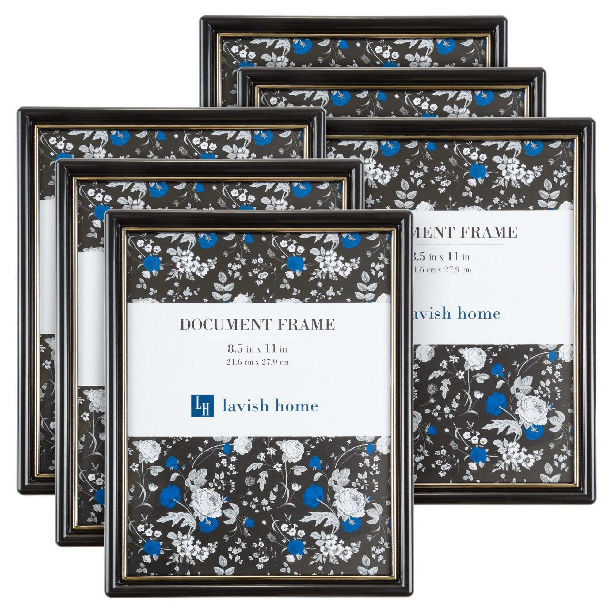 8 5x11 Document Frames Pack For Picture Gallery Wall With Stand and