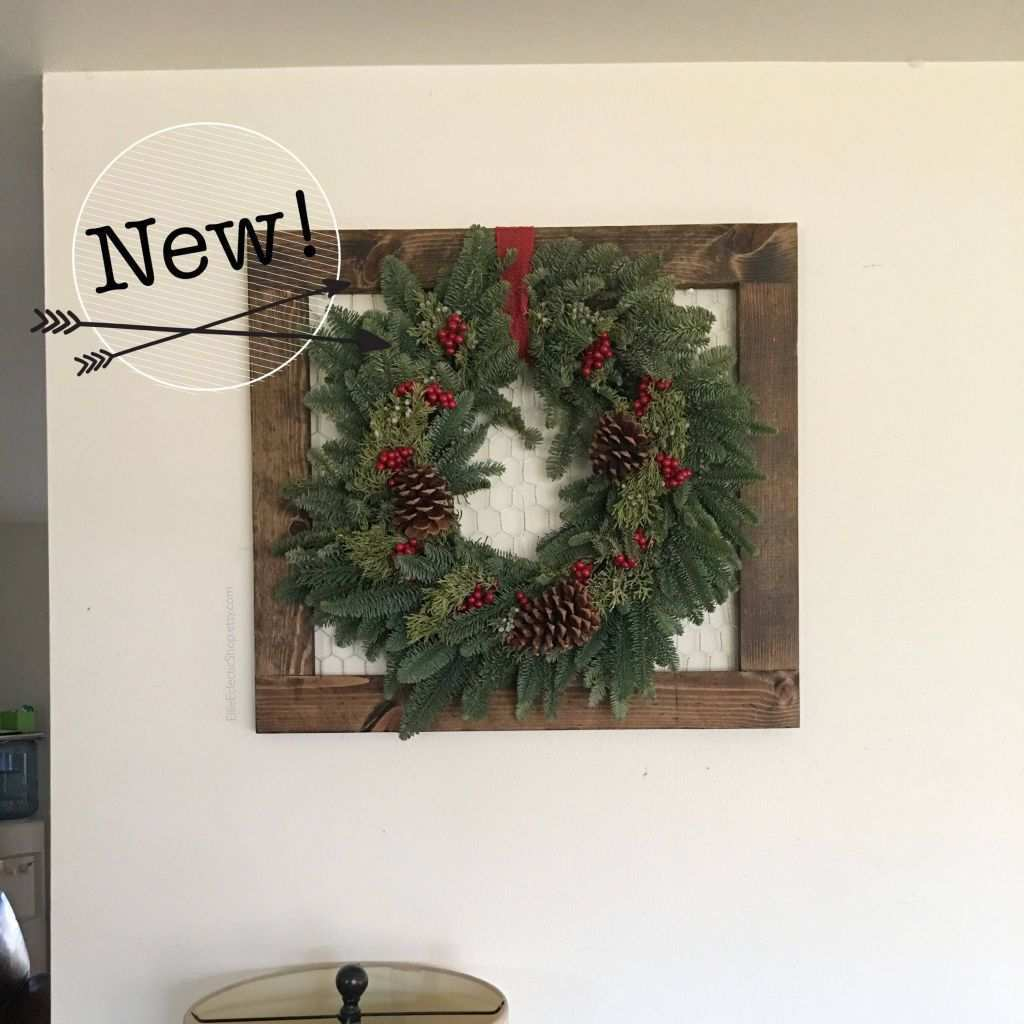 Frame Hanging Wire Luxury Christmas Wreath Holder Distressed Frame with Wire