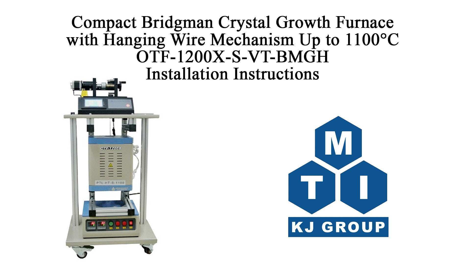 Frame Hanging Wire New Pact Bridgman Crystal Growth Furnace with Wire Travel Mechanism