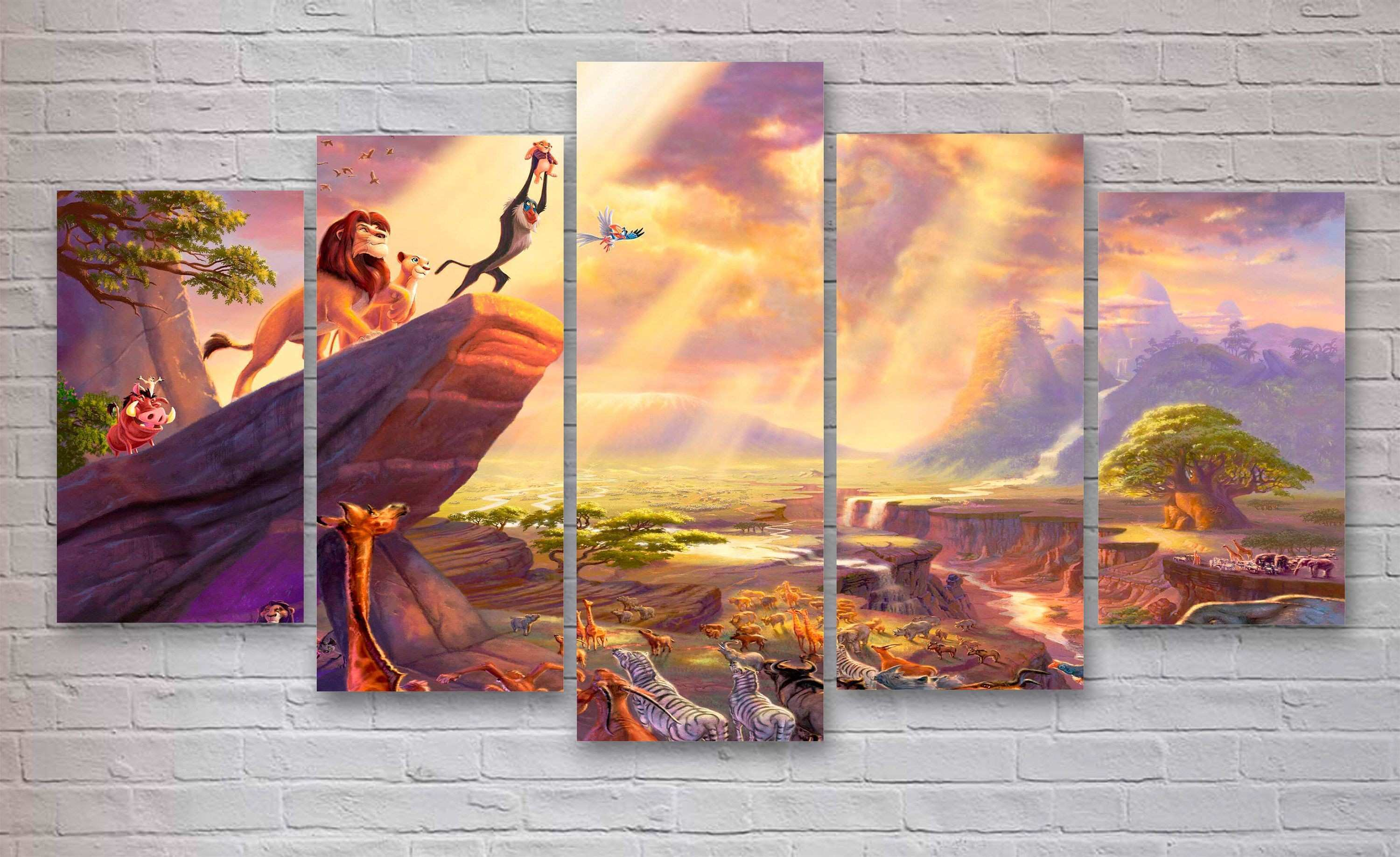 Lion King Movie Canvas Disney World Wall Art Lion King Canvas