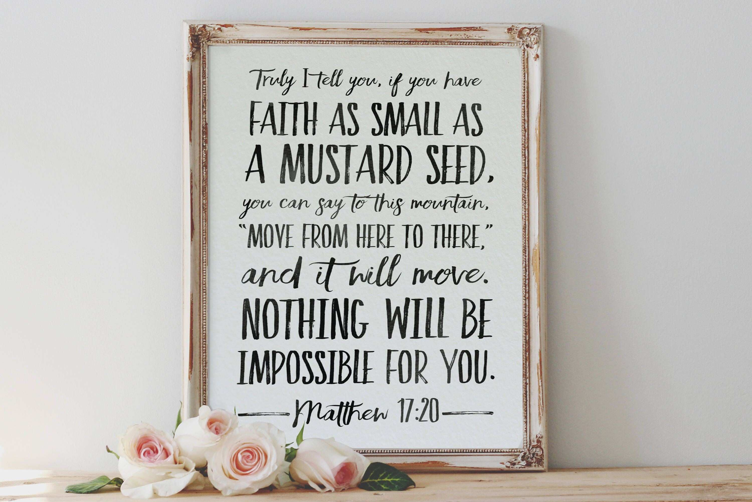 Faith The Size A Mustard Seed Matthew 17 20