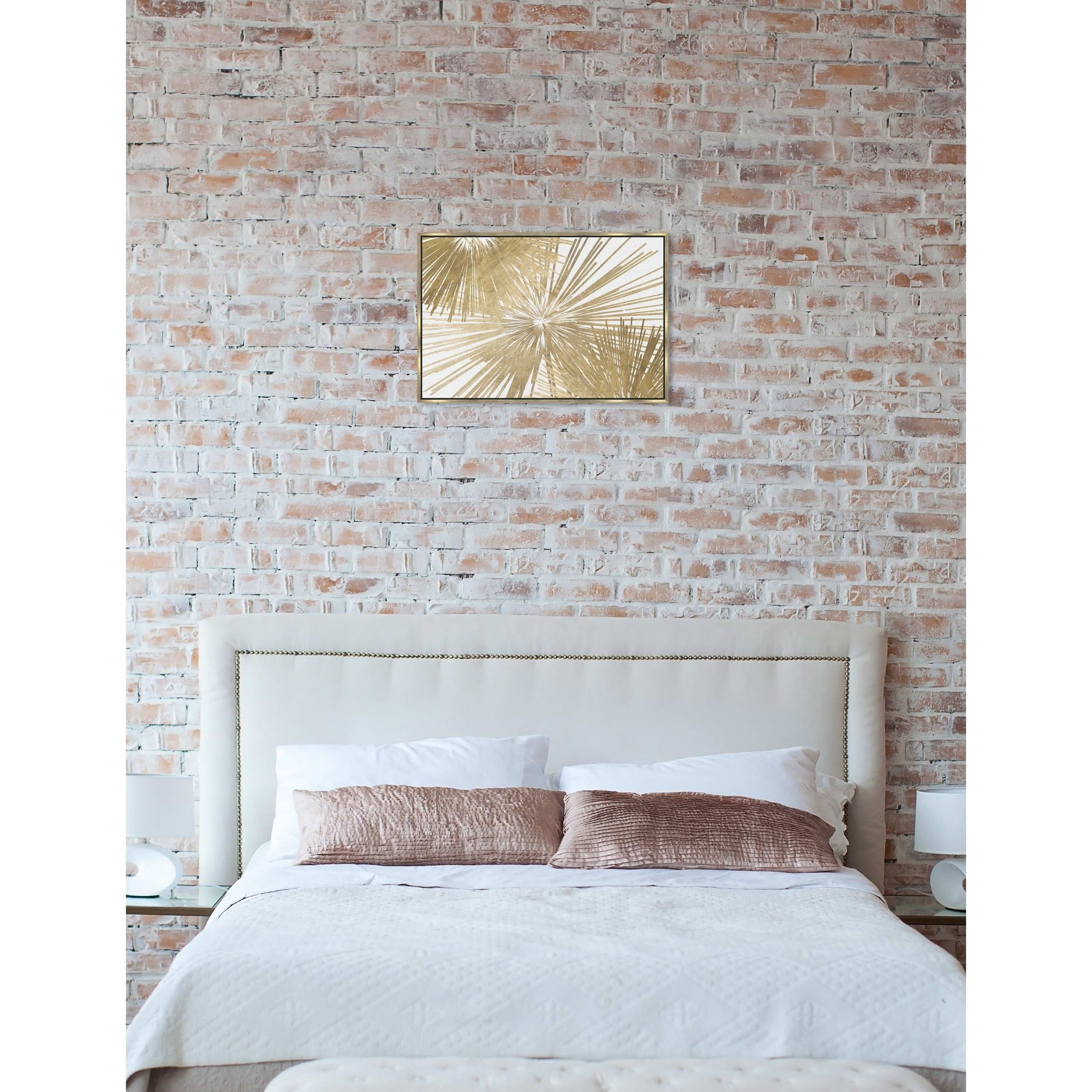 Shop Modern Oliver Gal Sunburst Glam Luxe Day Gold White Abstract