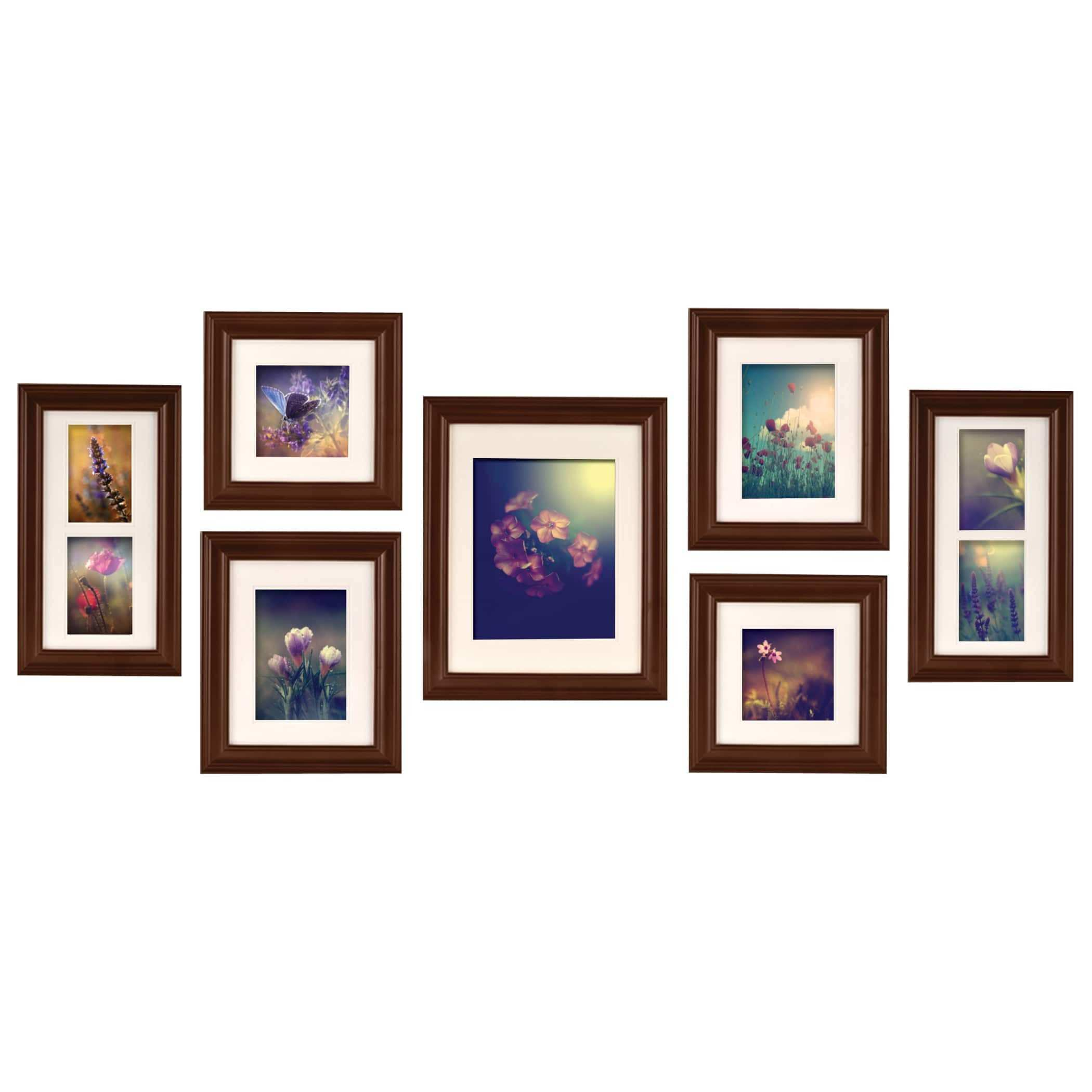 Shop Gallery Perfect Brown Walnut 7 piece Create A Gallery Frame Kit