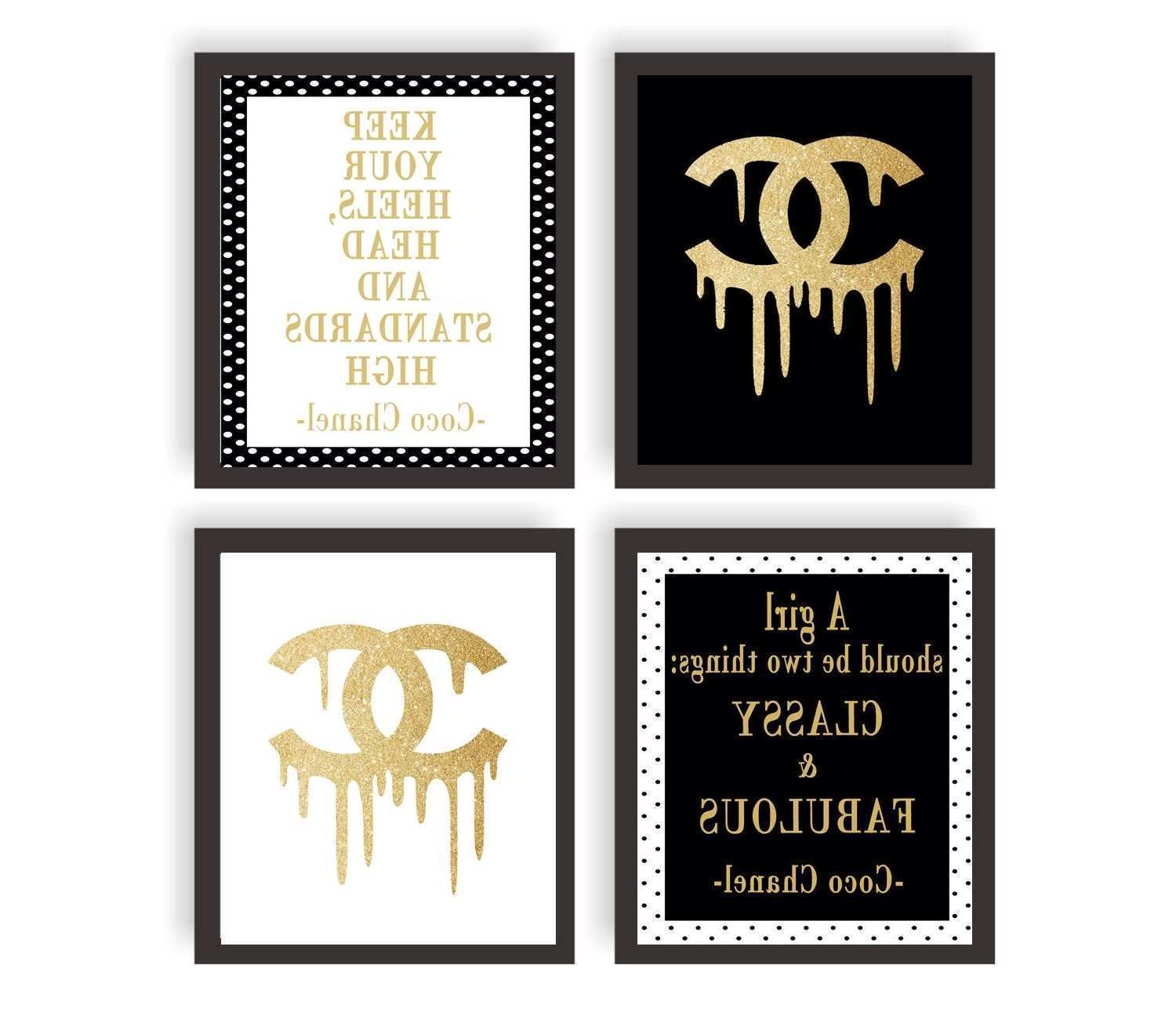 15 Collection of Coco Chanel Quotes Framed Wall Art