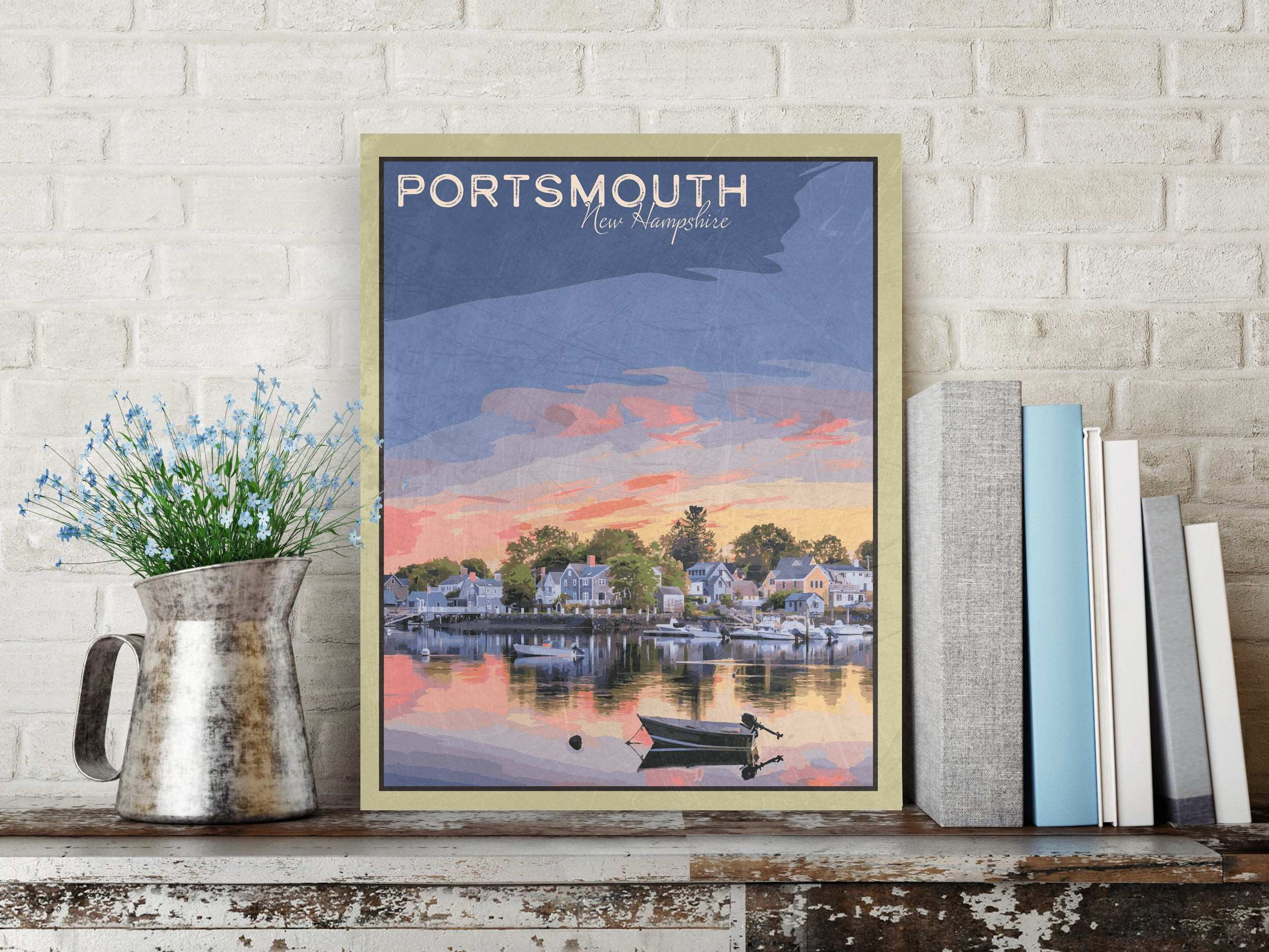 Portsmouth New Hampshire Portsmouth Print Portsmouth Wall Art