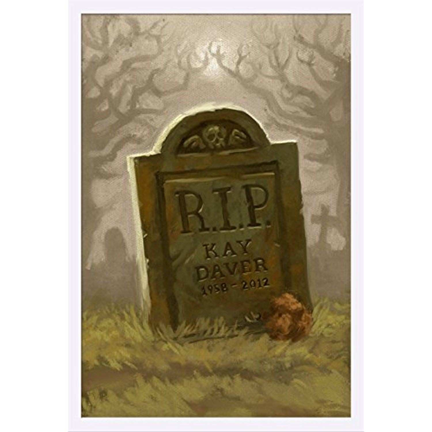 Headstone Halloween Oil Painting 24x36 Giclee Art Print Gallery