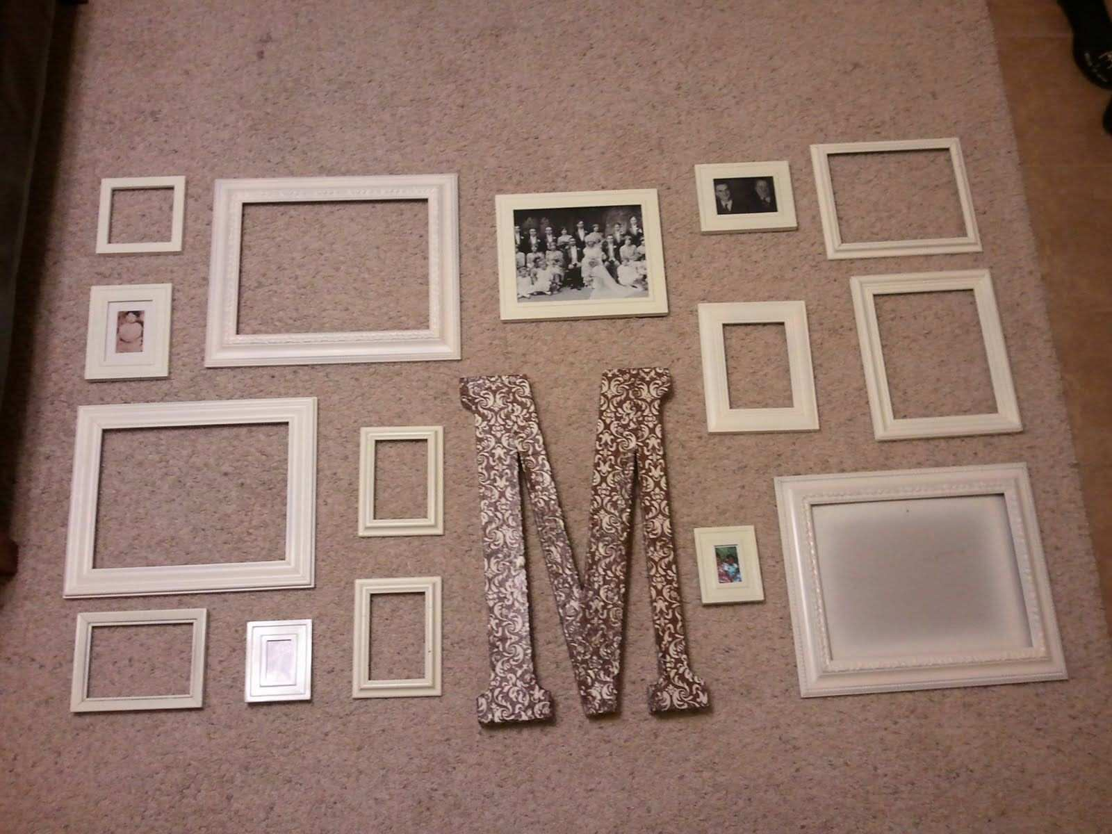 more picture frame collages wall decor ideas Pinterest
