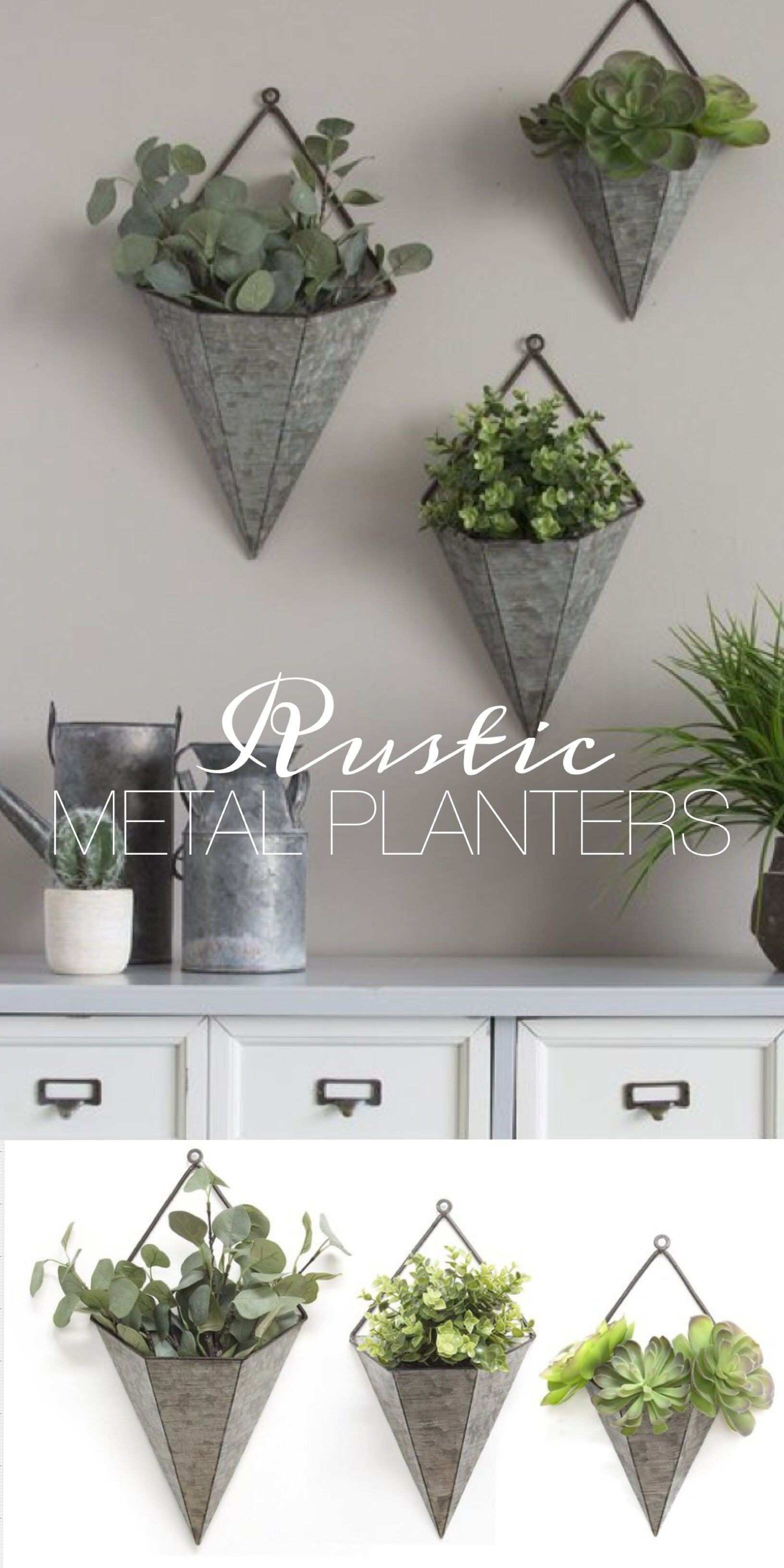 Galvanized Metal Vase Inspirational Rustic Galvanized Metal Wall