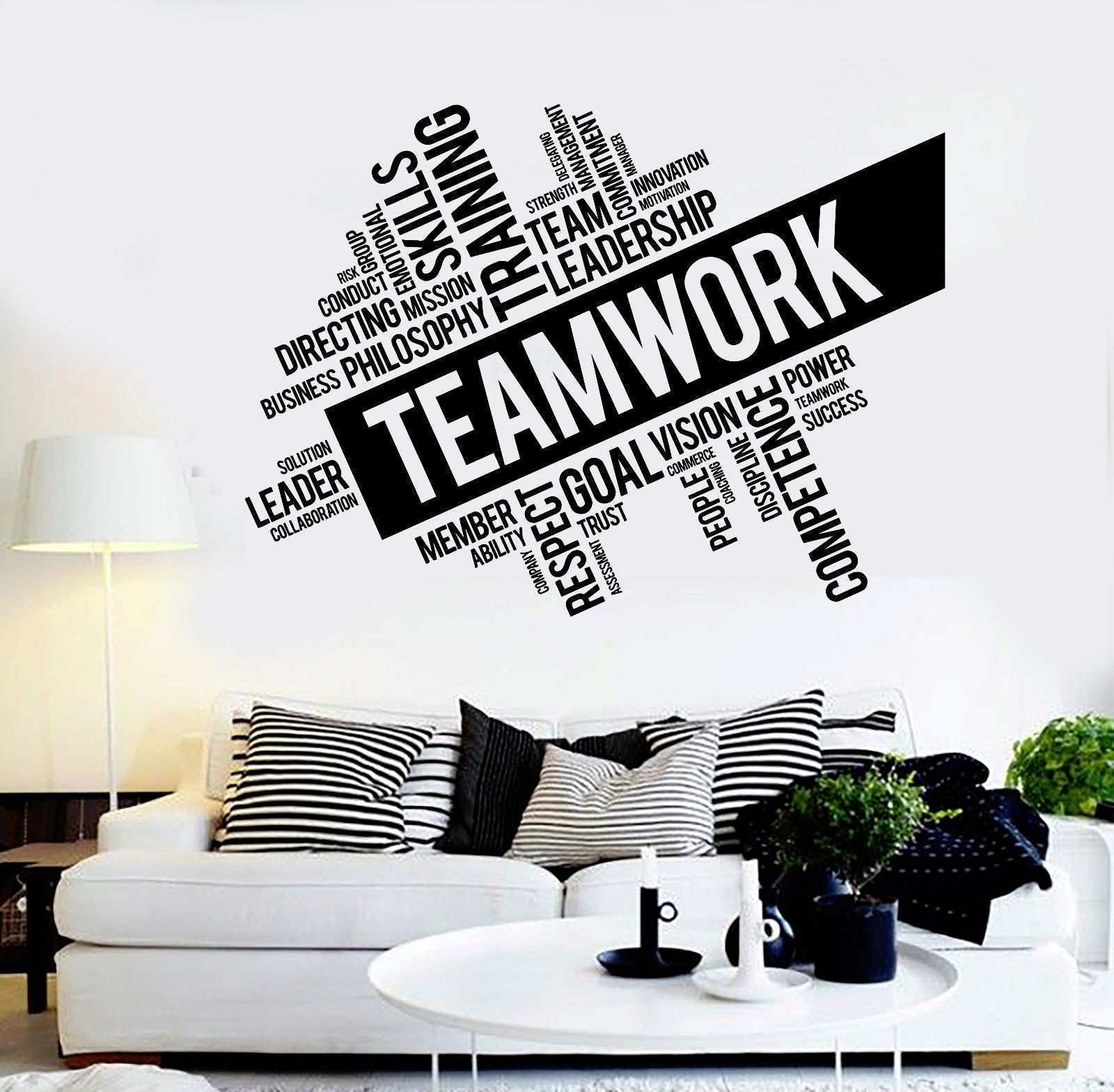 Vinyl Wall Decal Inspirational Teamwork Success fice wall Decor