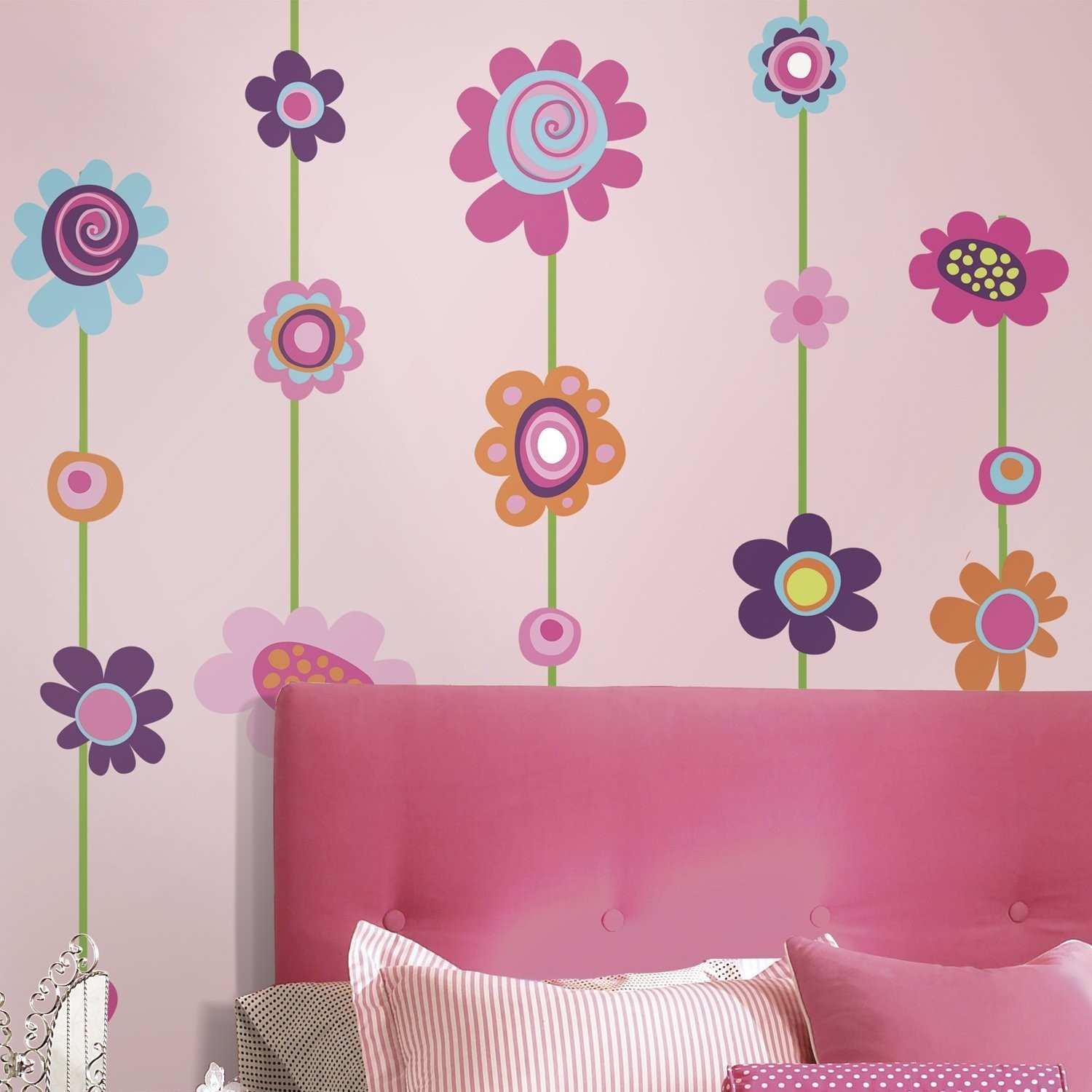 Fun4walls butterfly and Flowers Wall Decals Unique Roommates