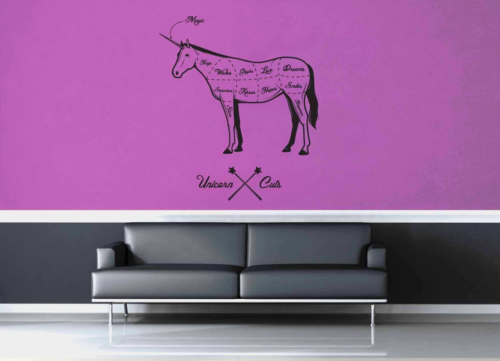 Unicorn Cuts Wall Decal – geekerymade