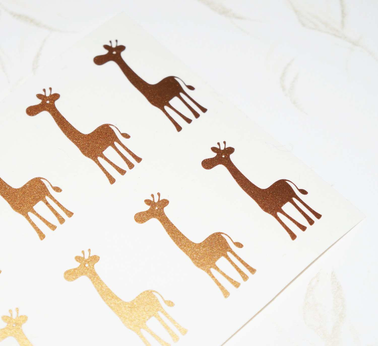 40 Giraffe Stickers Giraffe Wall Decal Animal Stickers Giraffe