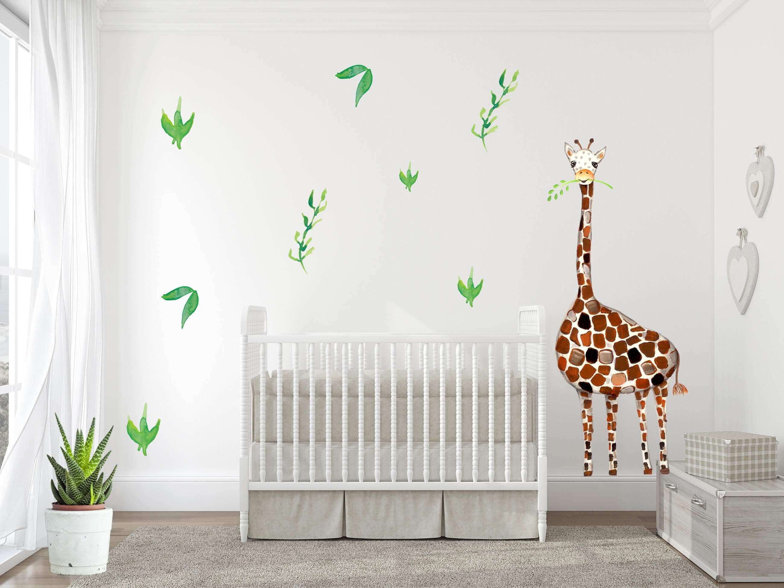Giraffe Wall Decal Baby Room Nursery decor Safari room decor